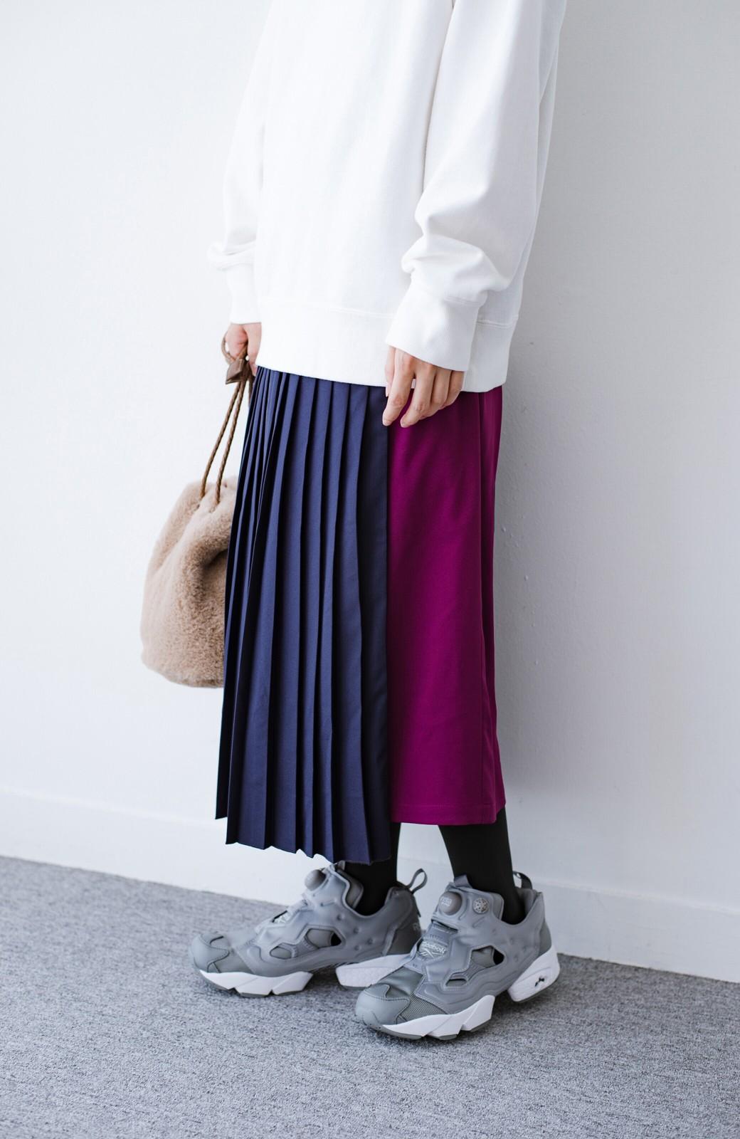 haco! 【背が小さい党】丈もウエストもぴったりサイズ!背が小さくたってすらーっと見えるプリーツスカート <ネイビー>の商品写真9