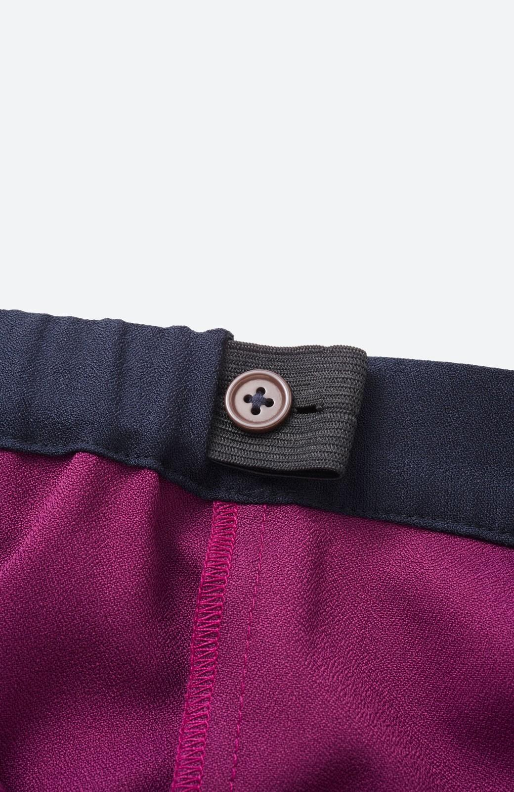 haco! 【背が小さい党】丈もウエストもぴったりサイズ!背が小さくたってすらーっと見えるプリーツスカート <ネイビー>の商品写真6