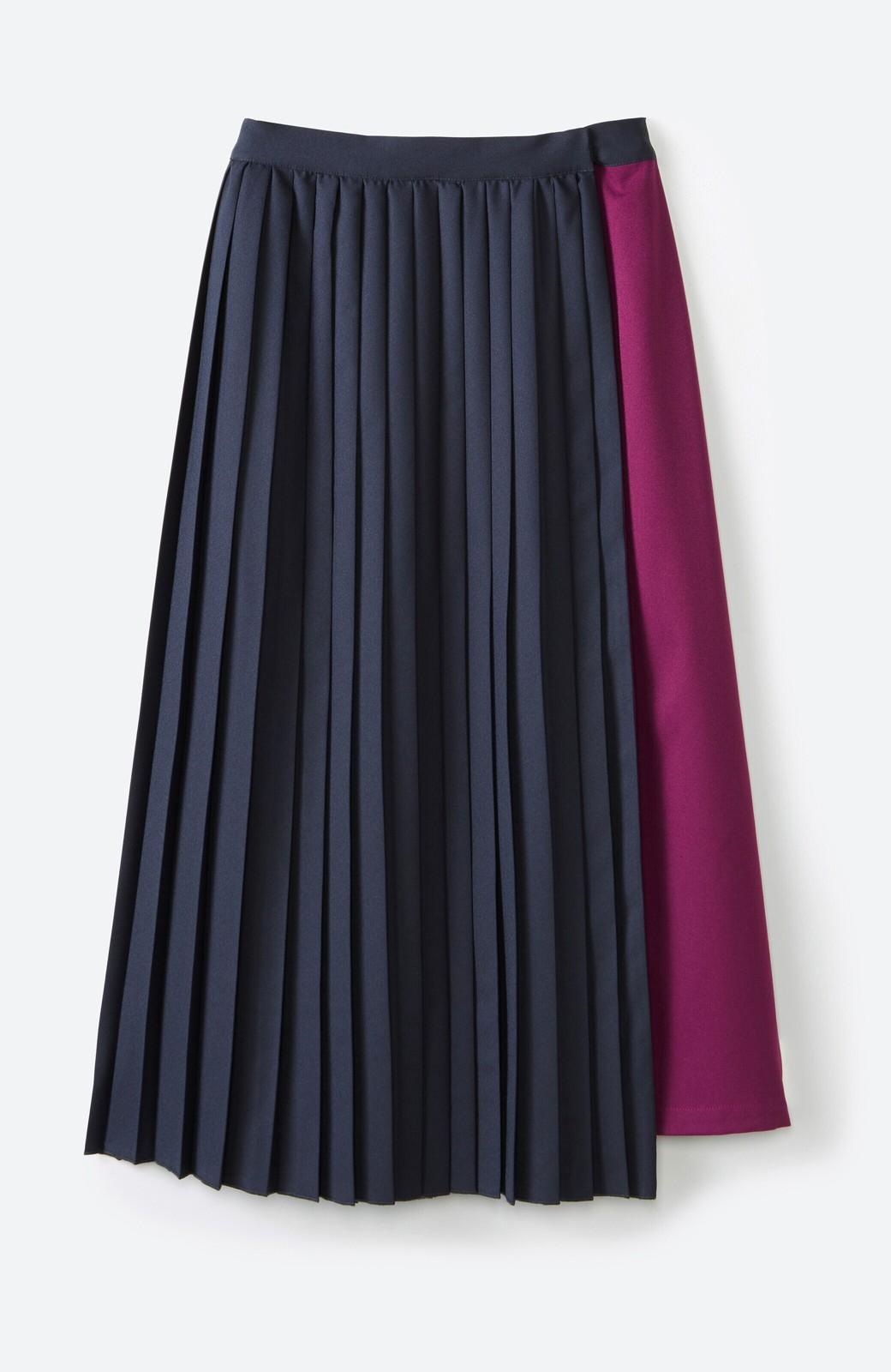 haco! 【背が小さい党】丈もウエストもぴったりサイズ!背が小さくたってすらーっと見えるプリーツスカート <ネイビー>の商品写真23