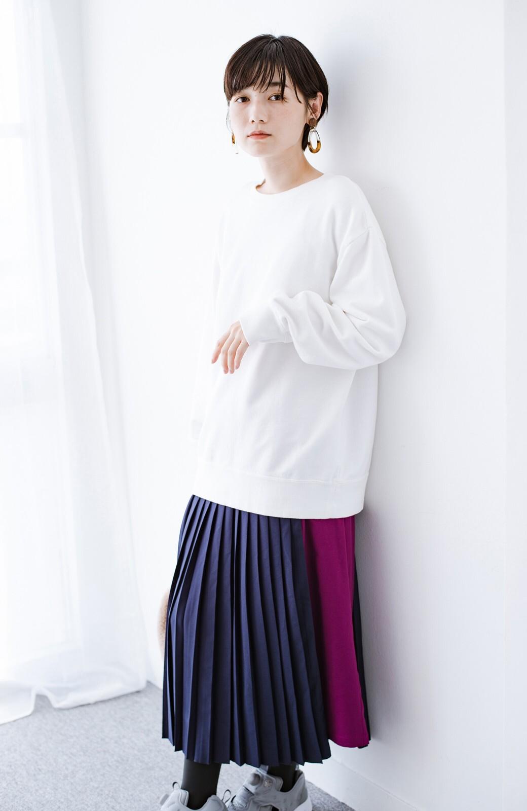 haco! 【背が小さい党】丈もウエストもぴったりサイズ!背が小さくたってすらーっと見えるプリーツスカート <ネイビー>の商品写真22