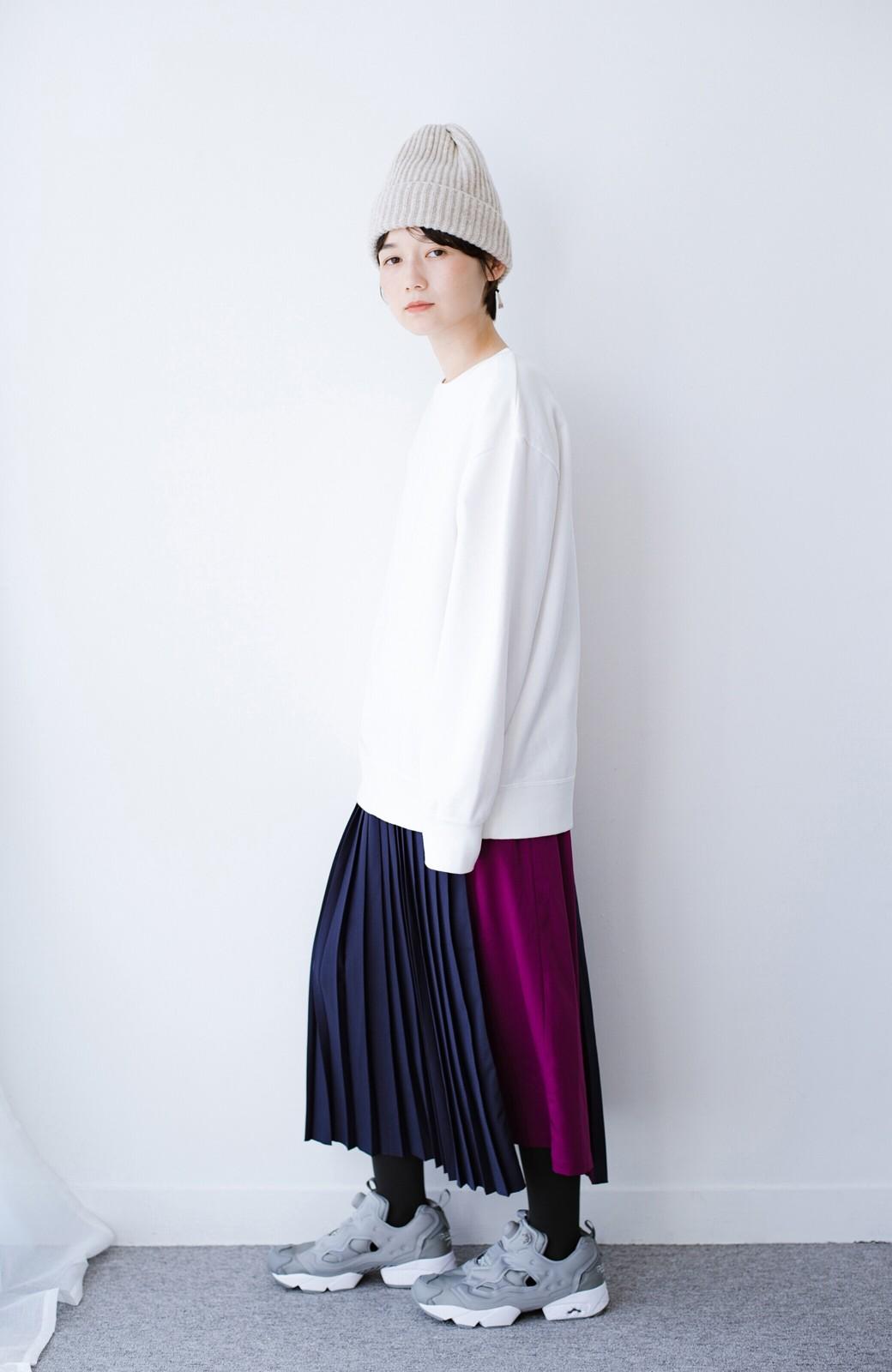 haco! 【背が小さい党】丈もウエストもぴったりサイズ!背が小さくたってすらーっと見えるプリーツスカート <ネイビー>の商品写真15