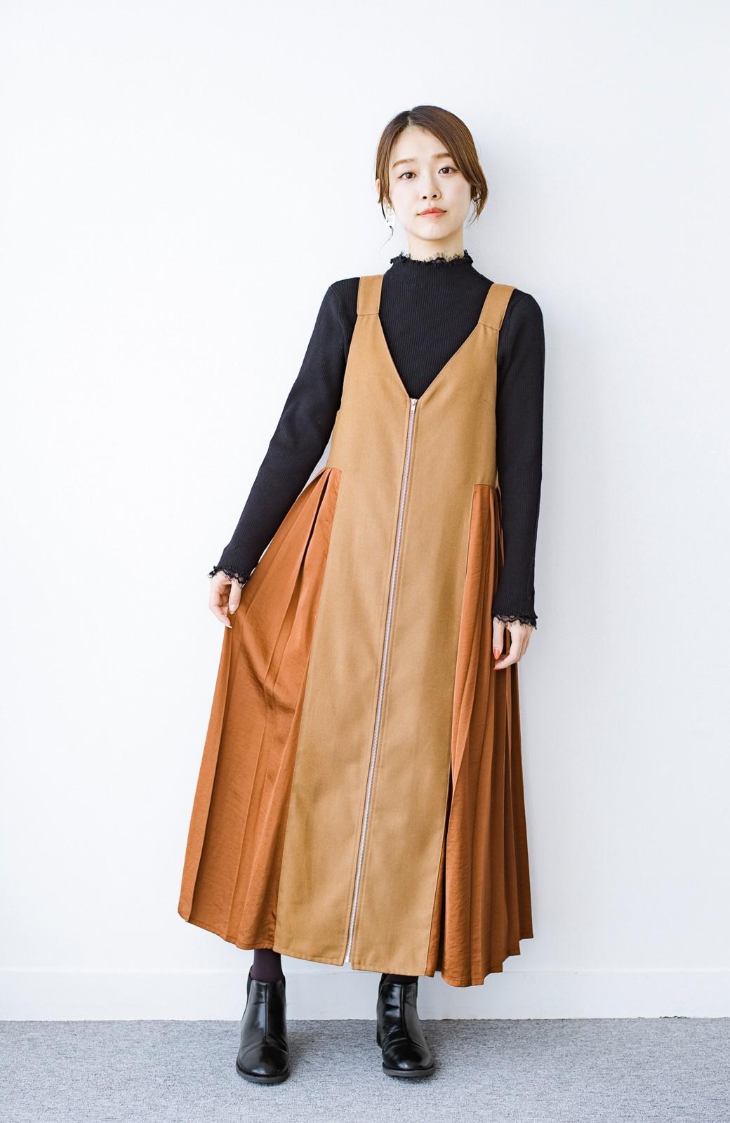 haco! 1枚でも重ね着でも便利!合わせやすくてかわいげを足せる 衿レース付きニットby style zampa <ブラック>の商品写真11