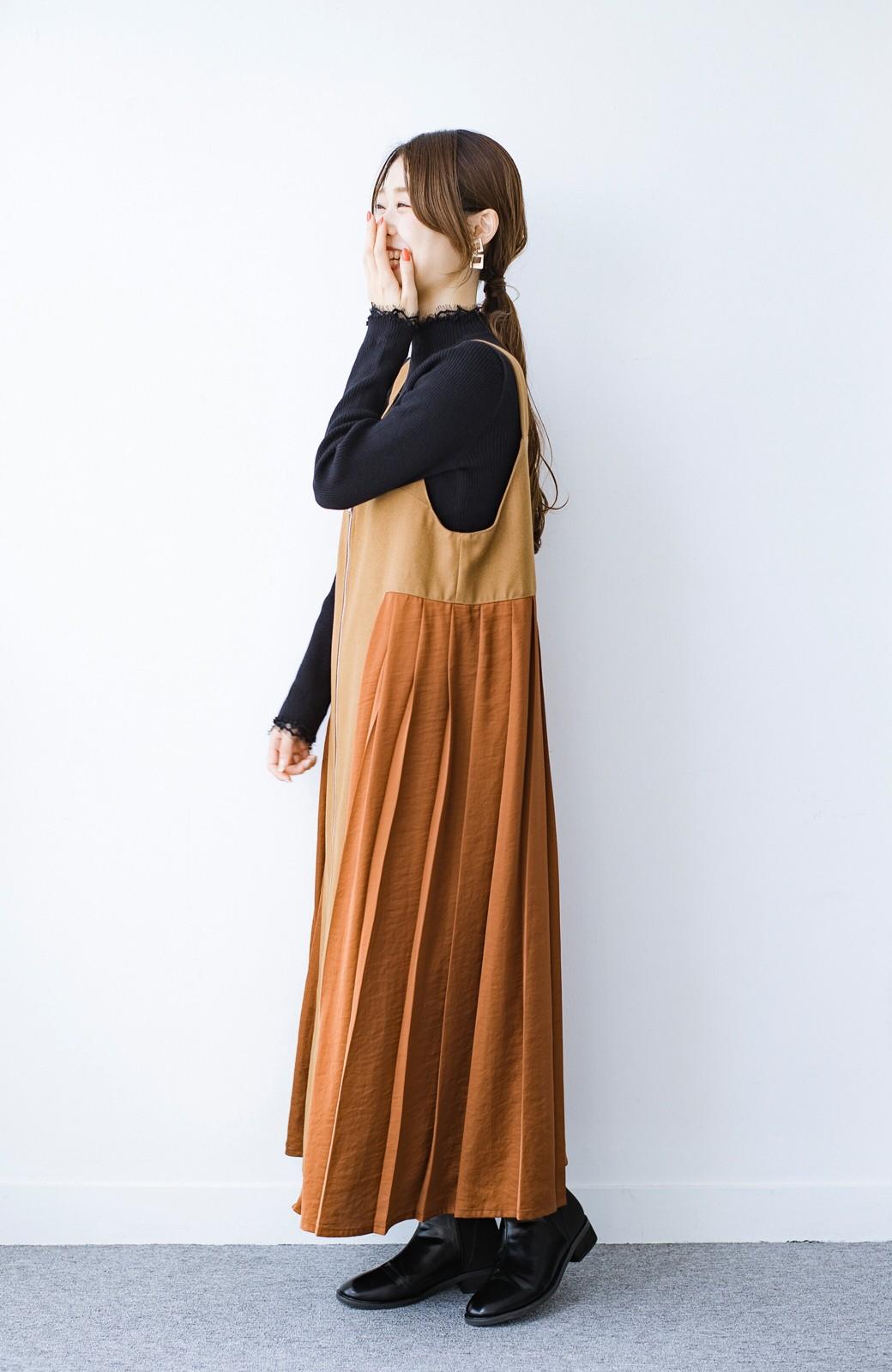 haco! 1枚でも重ね着でも便利!合わせやすくてかわいげを足せる 衿レース付きニットby style zampa <ブラック>の商品写真2
