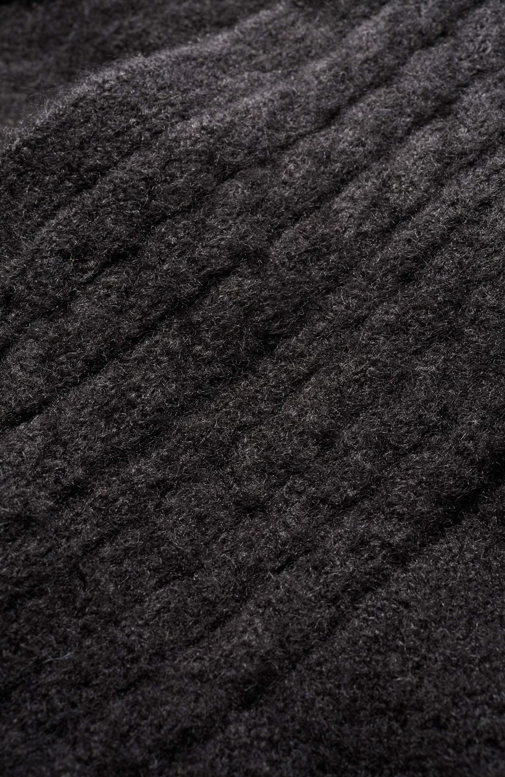 haco! ワンピースに合わせてもかわいいリボン付きカシュクールニット <ブラック>の商品写真3