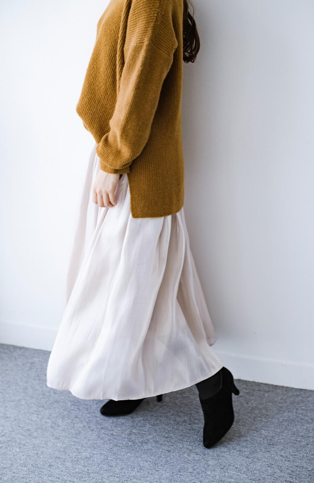 haco! 【人気のため新色追加!】1枚でも重ね着にも便利なキラキラ素材がかわいいロングスカート by laulea <アイボリー>の商品写真4