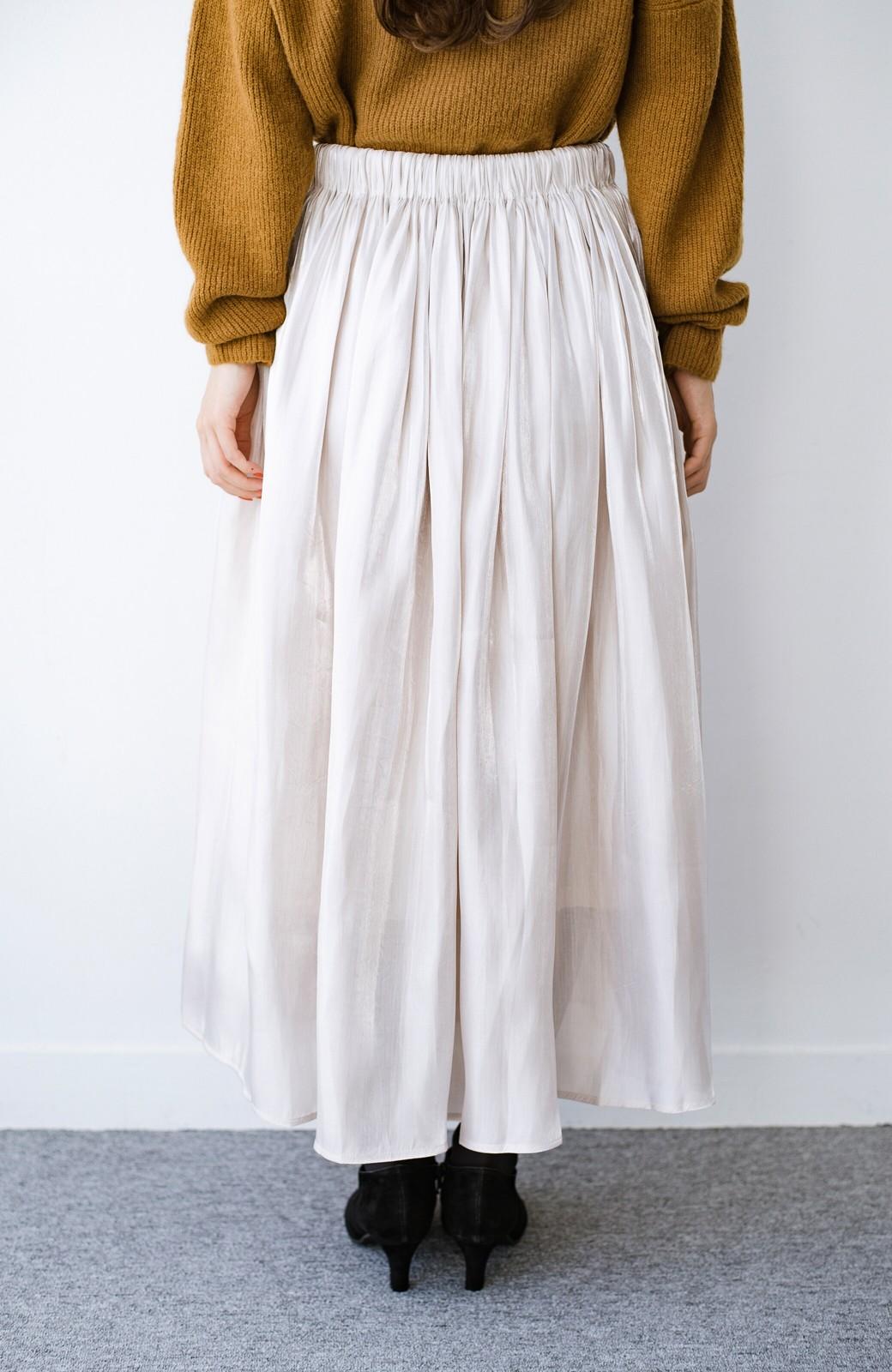 haco! 【人気のため新色追加!】1枚でも重ね着にも便利なキラキラ素材がかわいいロングスカート by laulea <アイボリー>の商品写真7