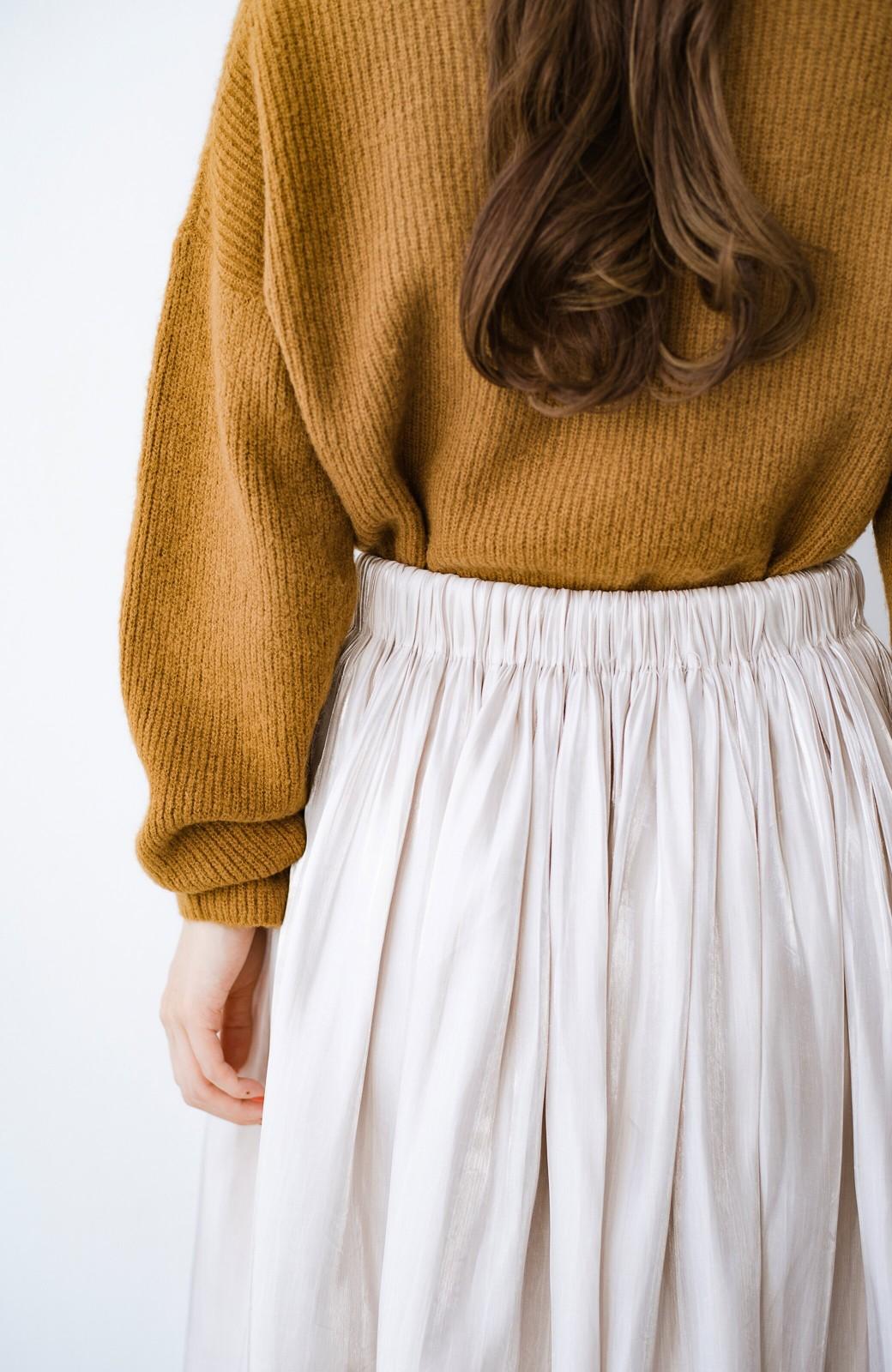 haco! 【人気のため新色追加!】1枚でも重ね着にも便利なキラキラ素材がかわいいロングスカート by laulea <アイボリー>の商品写真8