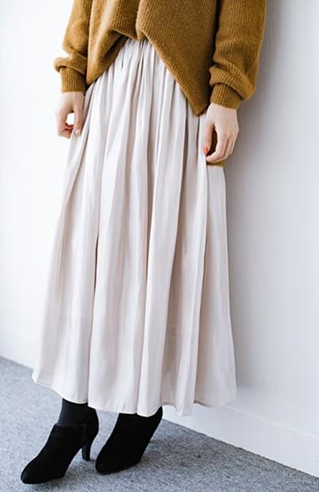 haco! 1枚でも重ね着にも便利なキラキラ素材がかわいいロングスカート by laulea <アイボリー>の商品写真