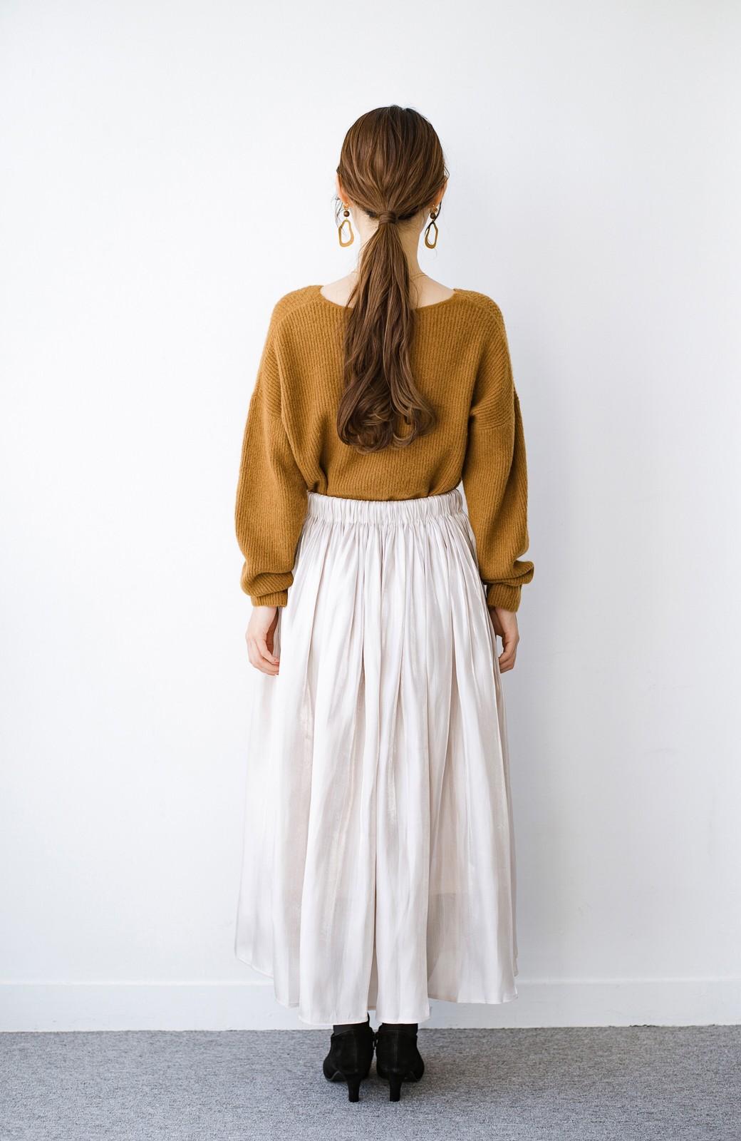 haco! 【人気のため新色追加!】1枚でも重ね着にも便利なキラキラ素材がかわいいロングスカート by laulea <アイボリー>の商品写真17