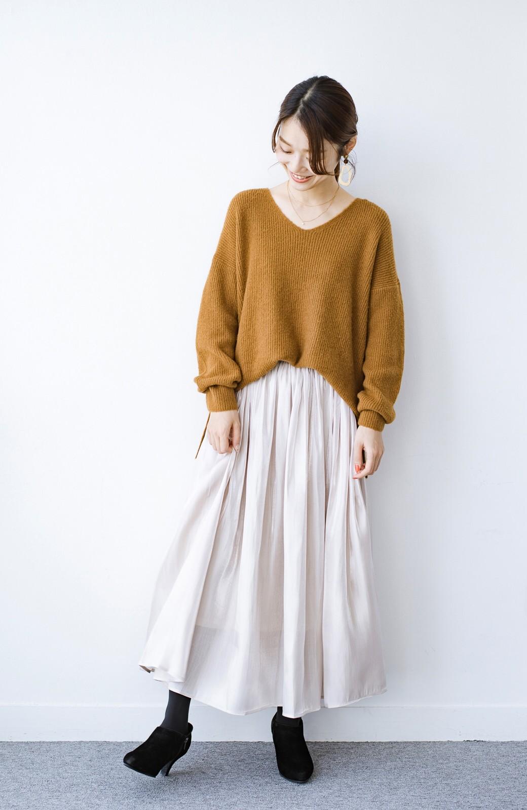 haco! 【人気のため新色追加!】1枚でも重ね着にも便利なキラキラ素材がかわいいロングスカート by laulea <アイボリー>の商品写真2