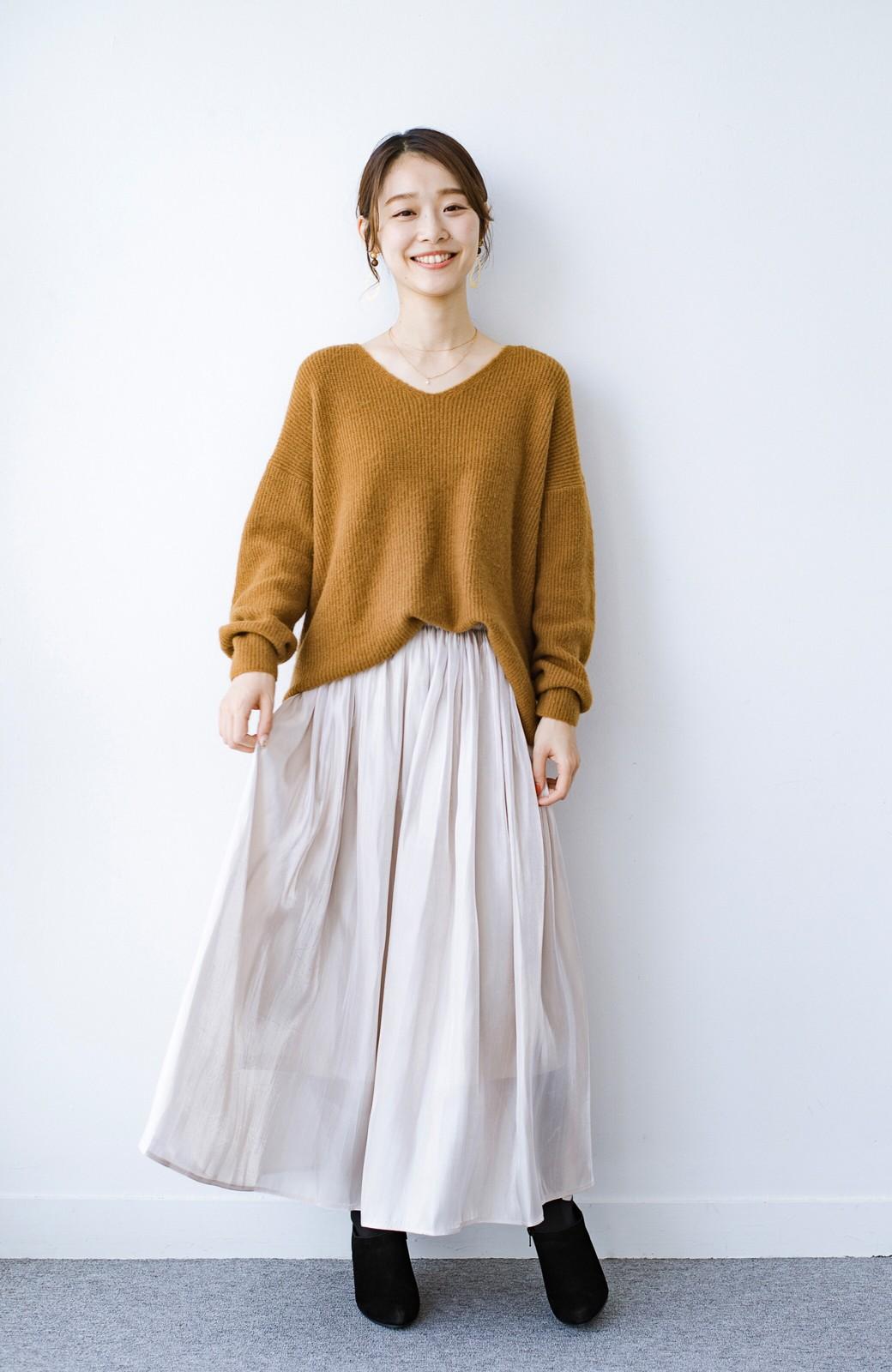 haco! 【人気のため新色追加!】1枚でも重ね着にも便利なキラキラ素材がかわいいロングスカート by laulea <アイボリー>の商品写真12