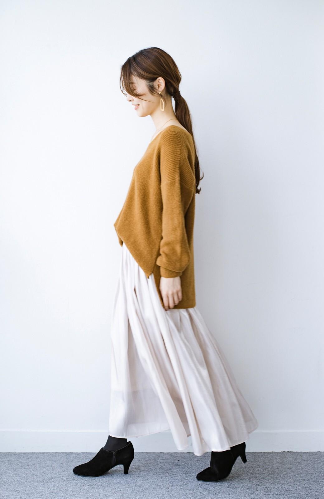 haco! 【人気のため新色追加!】1枚でも重ね着にも便利なキラキラ素材がかわいいロングスカート by laulea <アイボリー>の商品写真16