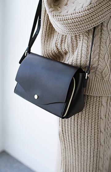 haco! Legato Largo かるいかばんシリーズ 軽量ボンディングフェイクレザー お財布ショルダーバッグ <ブラック>の商品写真