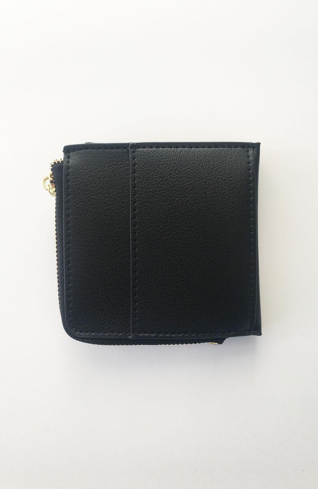 haco! Legato Largo うすいサイフシリーズ 軽量ボンディングフェイクレザー 二つ折り財布 <ブラック>の商品写真2