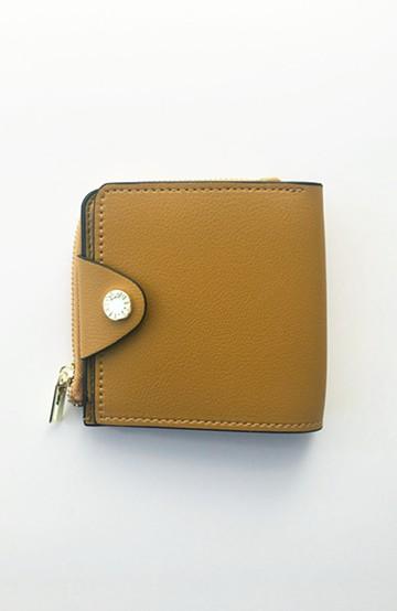 haco! Legato Largo うすいサイフシリーズ 軽量ボンディングフェイクレザー 二つ折り財布 <マスタード>の商品写真