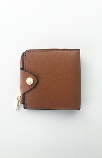 haco! Legato Largo うすいサイフシリーズ 軽量ボンディングフェイクレザー 二つ折り財布 <キャメル>の商品写真