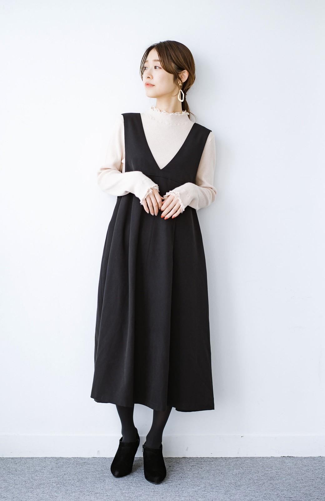 haco! Tシャツにもニットにもずーーっと着られて便利なジャンパースカート <ブラック>の商品写真7