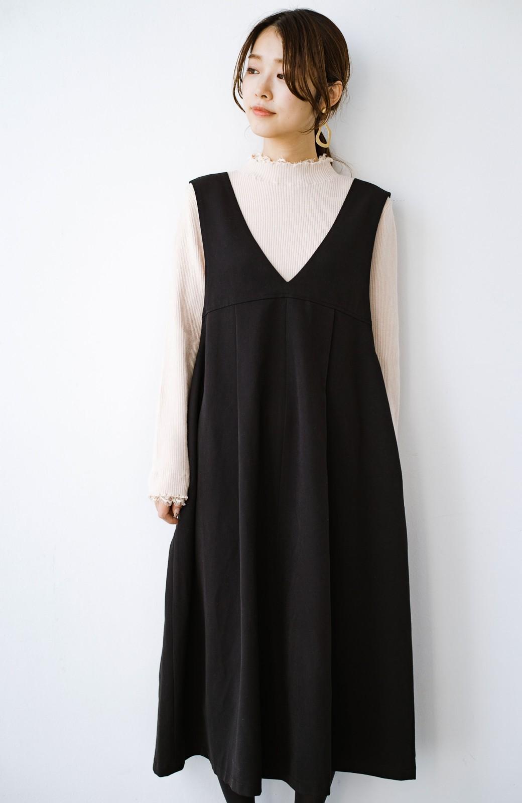 haco! Tシャツにもニットにもずーーっと着られて便利なジャンパースカート <ブラック>の商品写真8