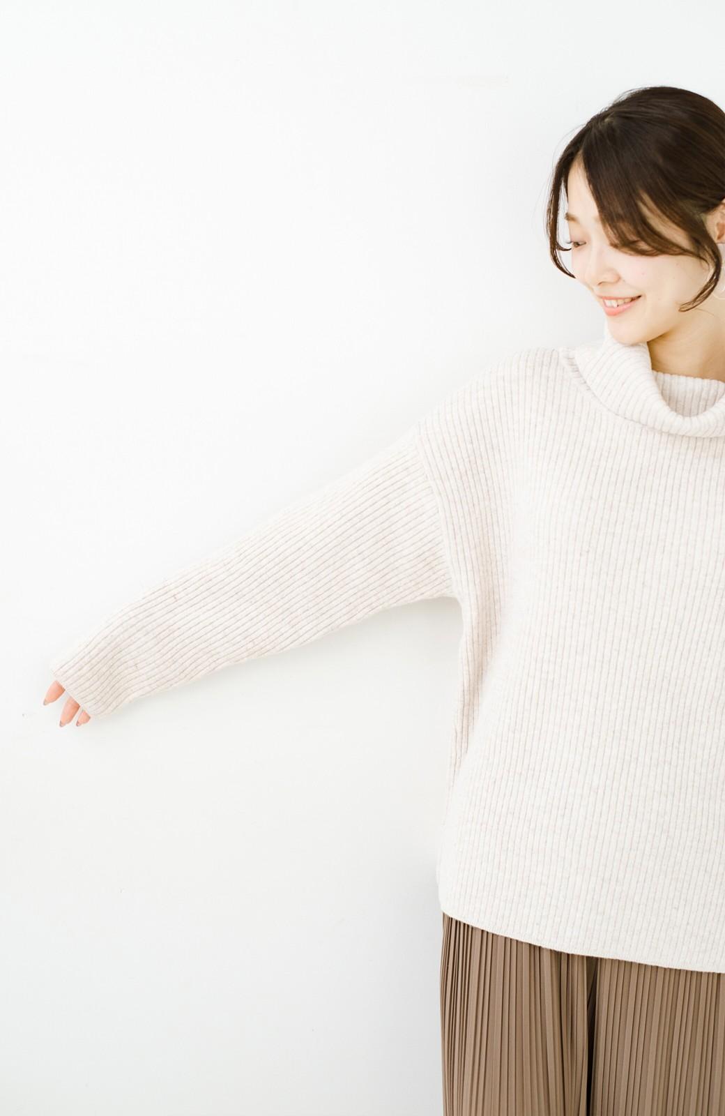 haco! haco! 何着よう?!と困った朝の相棒にぴったりな便利なシンプルリブニットby style zampa <アイボリー>の商品写真14