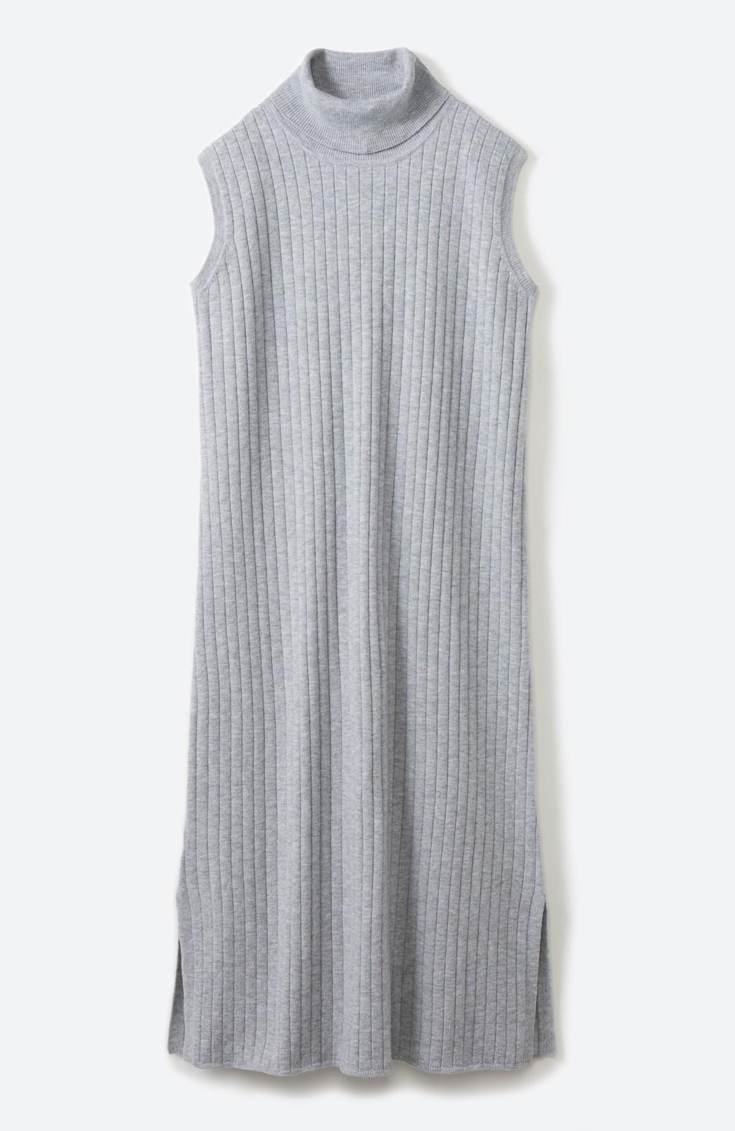 haco! セットで着るだけパッとかわいい ニットトップス&ノースリーブニットワンピースセット <グレー>の商品写真3