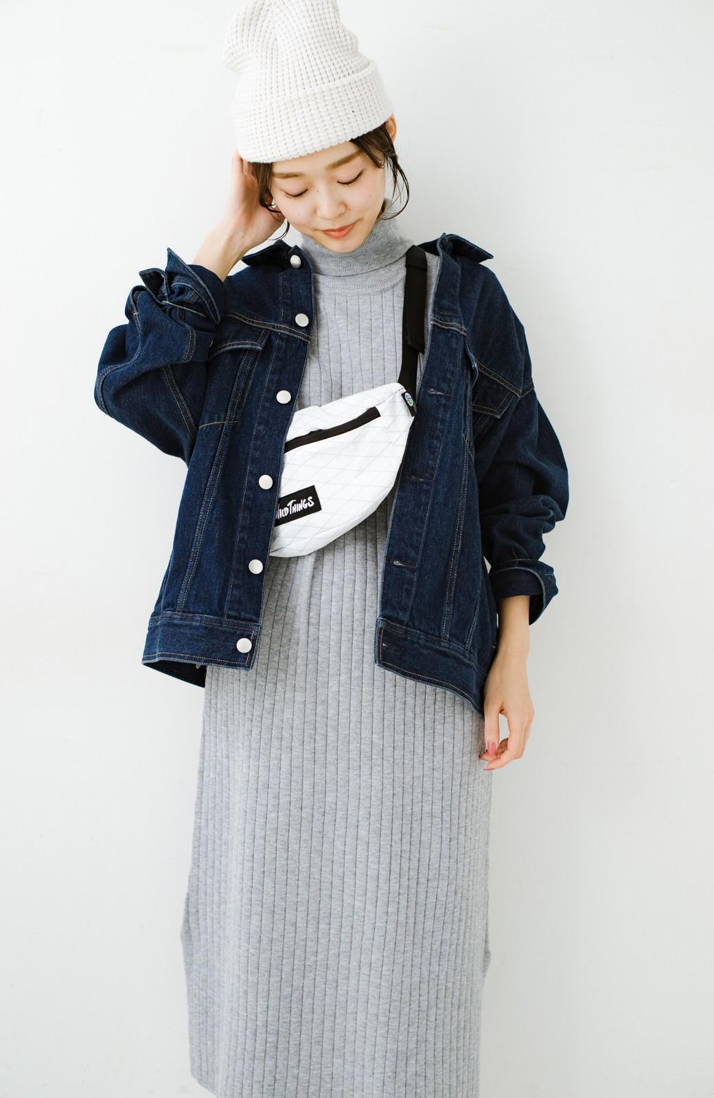 haco! セットで着るだけパッとかわいい ニットトップス&ノースリーブニットワンピースセット <グレー>の商品写真15