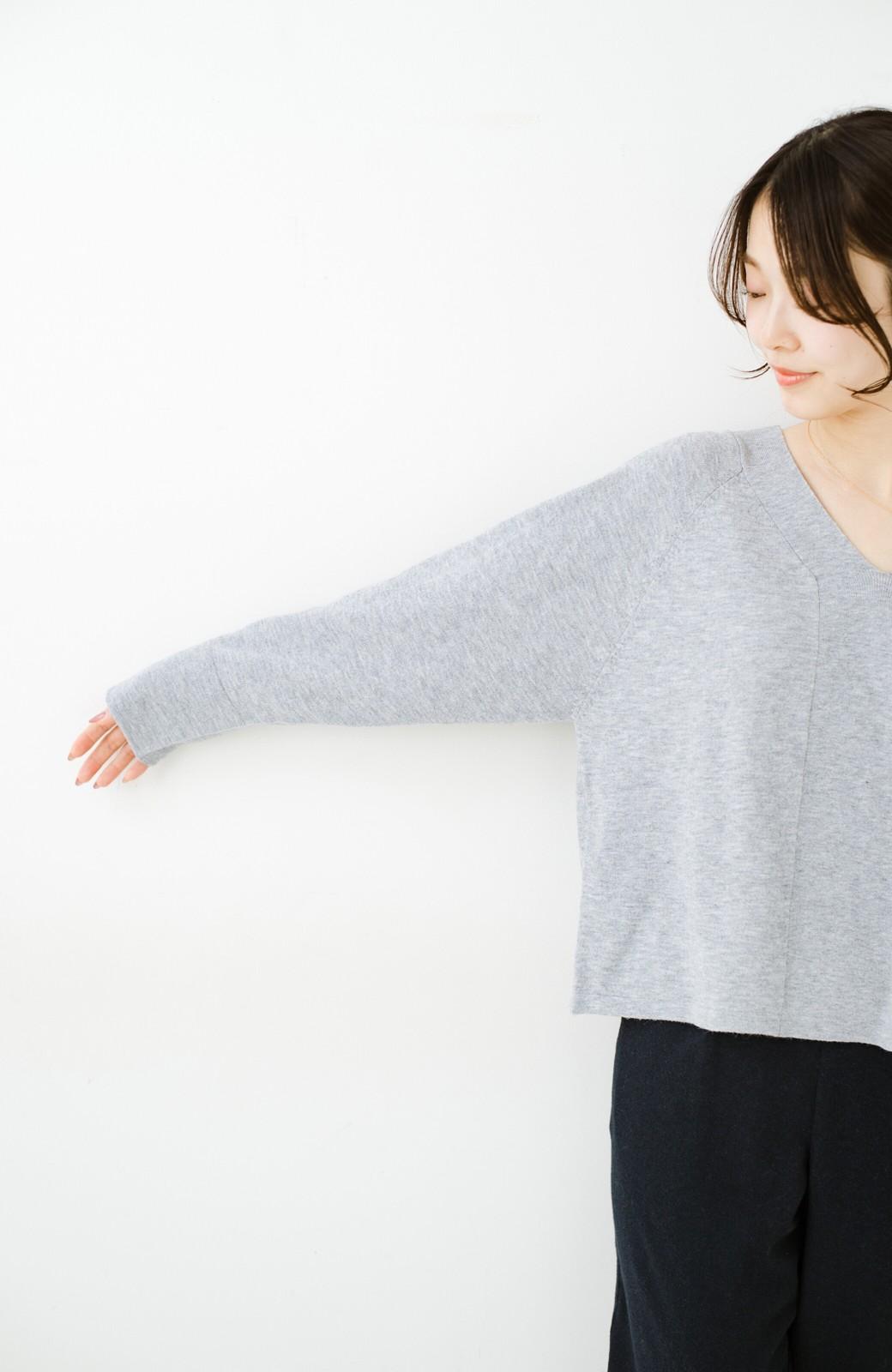 haco! セットで着るだけパッとかわいい ニットトップス&ノースリーブニットワンピースセット <グレー>の商品写真26