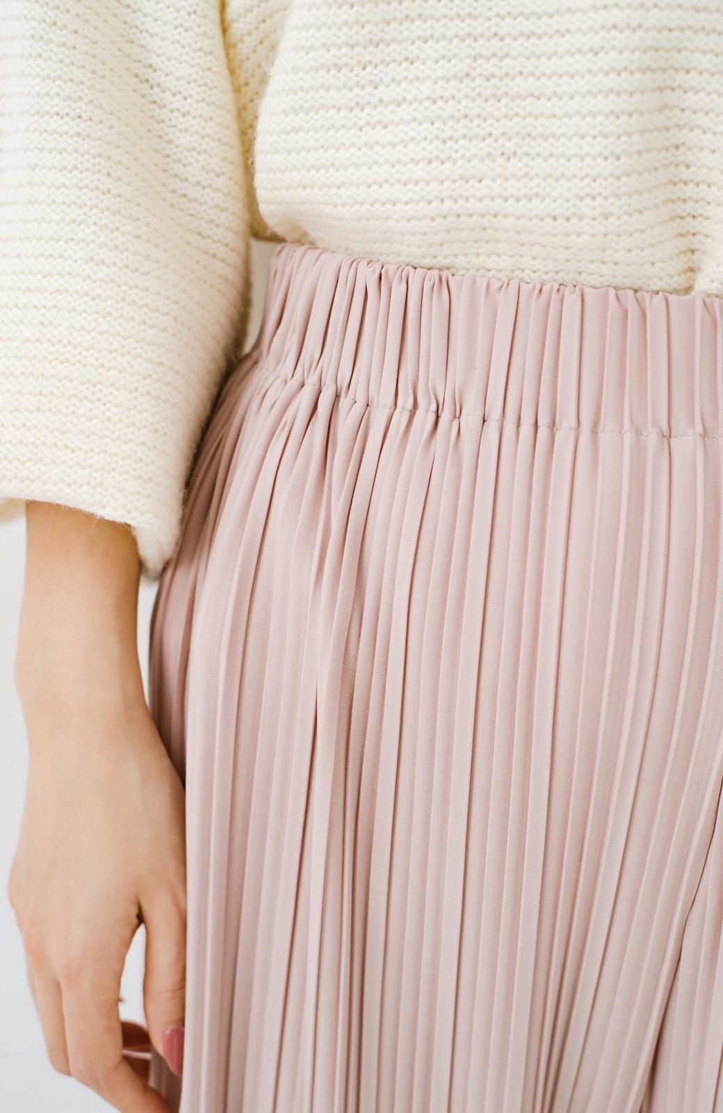 haco! パンツ派さんのデートにもカジュアル派さんの重ね着にも便利なプリーツパンツ  <ピンクベージュ>の商品写真8