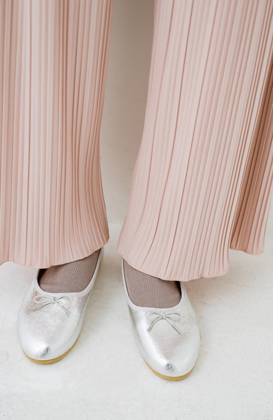 haco! パンツ派さんのデートにもカジュアル派さんの重ね着にも便利なプリーツパンツ  <ピンクベージュ>の商品写真9