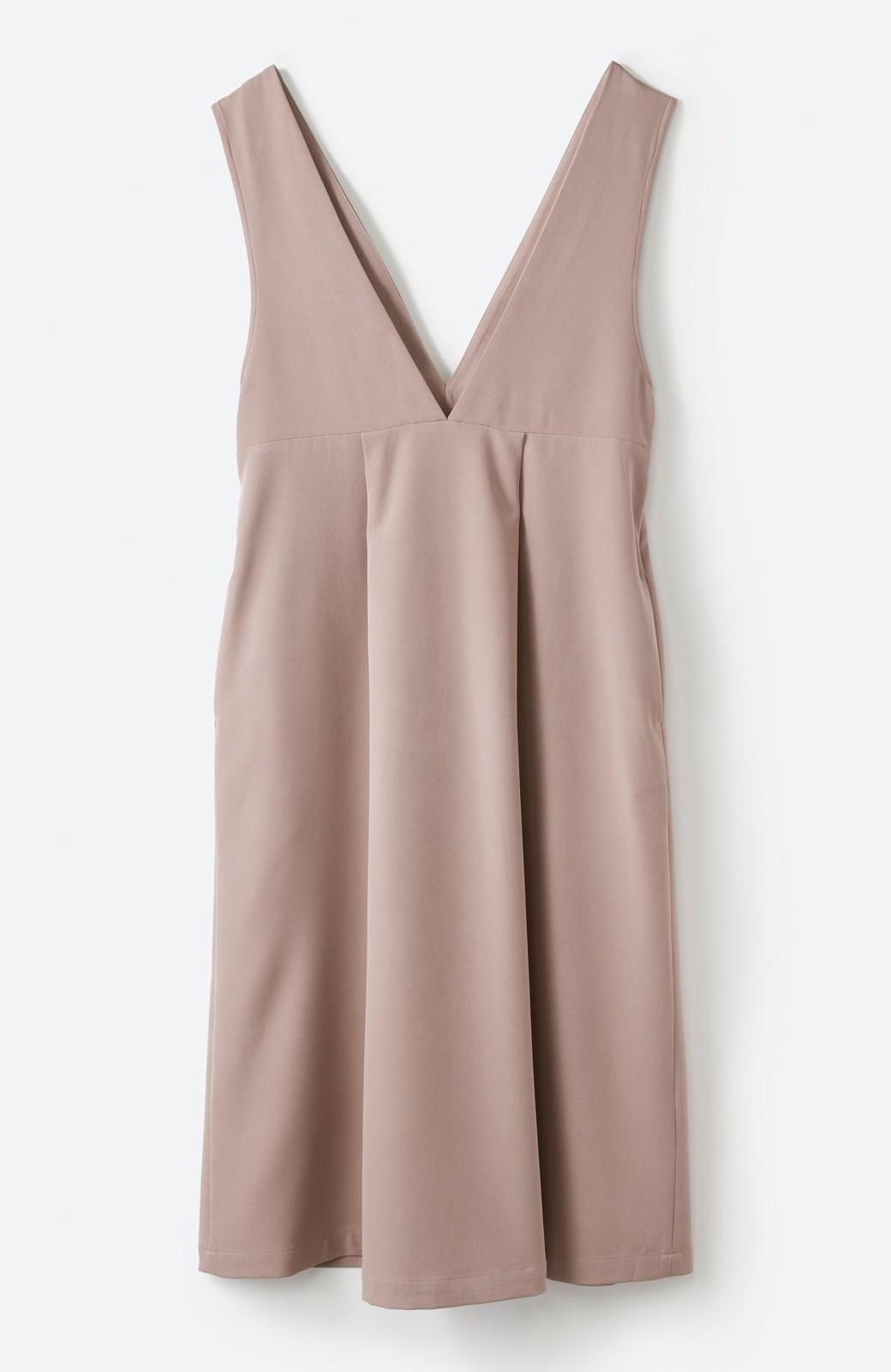 haco! ニットにもTシャツにも似合う ずっと着られてパッと華やぐジャンパースカート <ピンクベージュ>の商品写真24