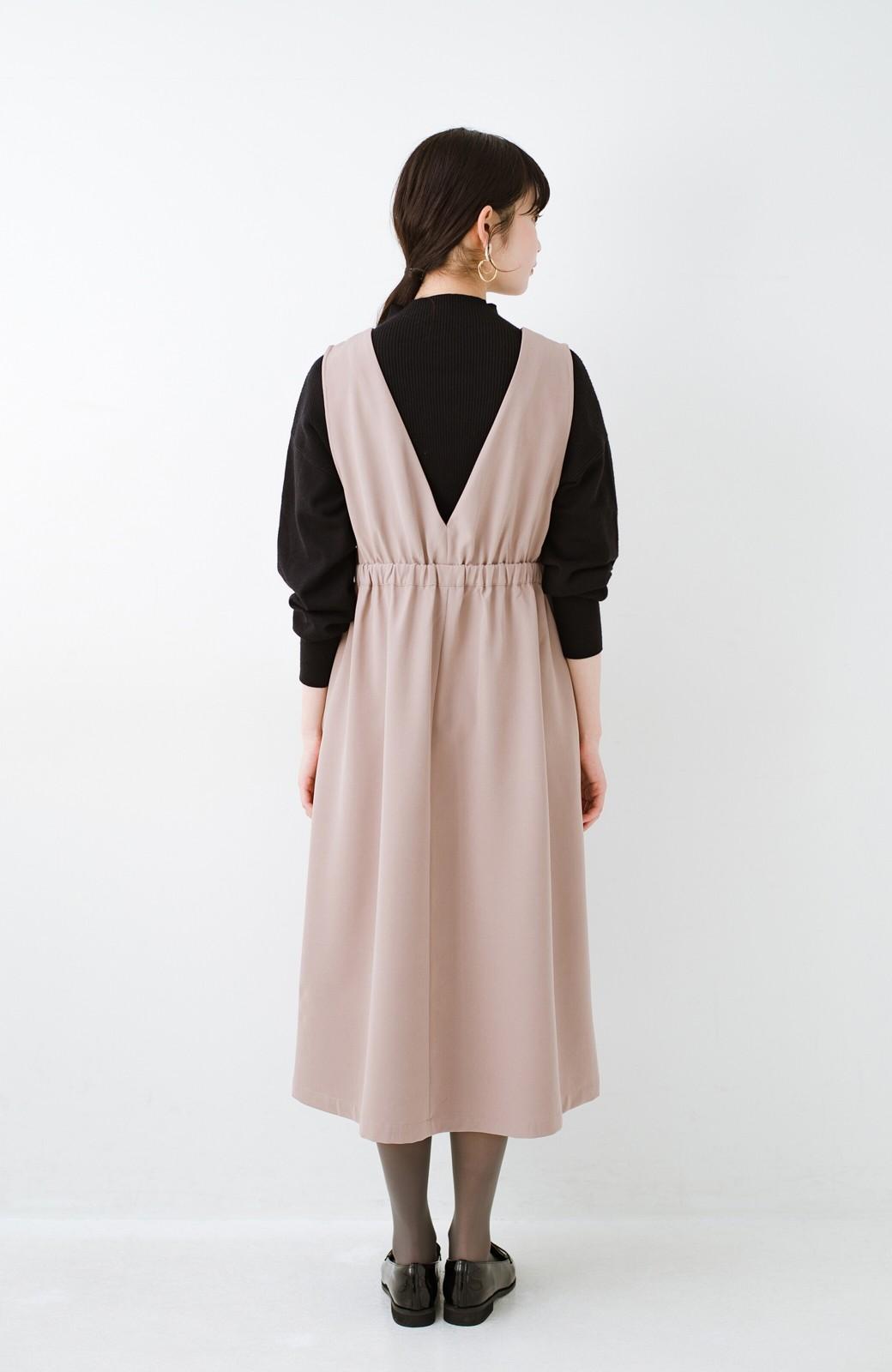 haco! ニットにもTシャツにも似合う ずっと着られてパッと華やぐジャンパースカート <ピンクベージュ>の商品写真16
