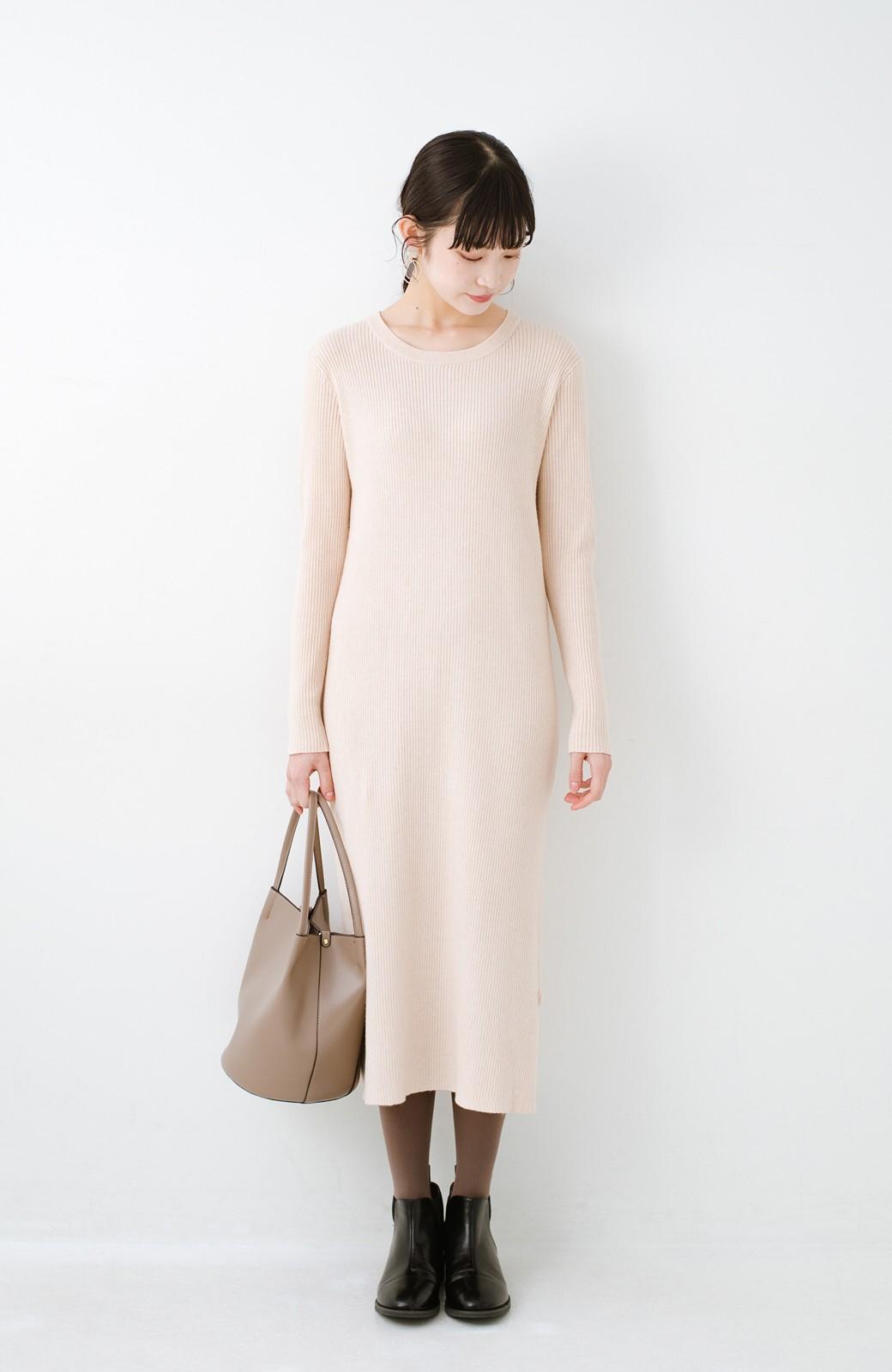 haco! ニットワンピースとキャミソールを重ねて着るだけでパッとオシャレに見えるうれしいセット by style zampa <ライトベージュ>の商品写真16