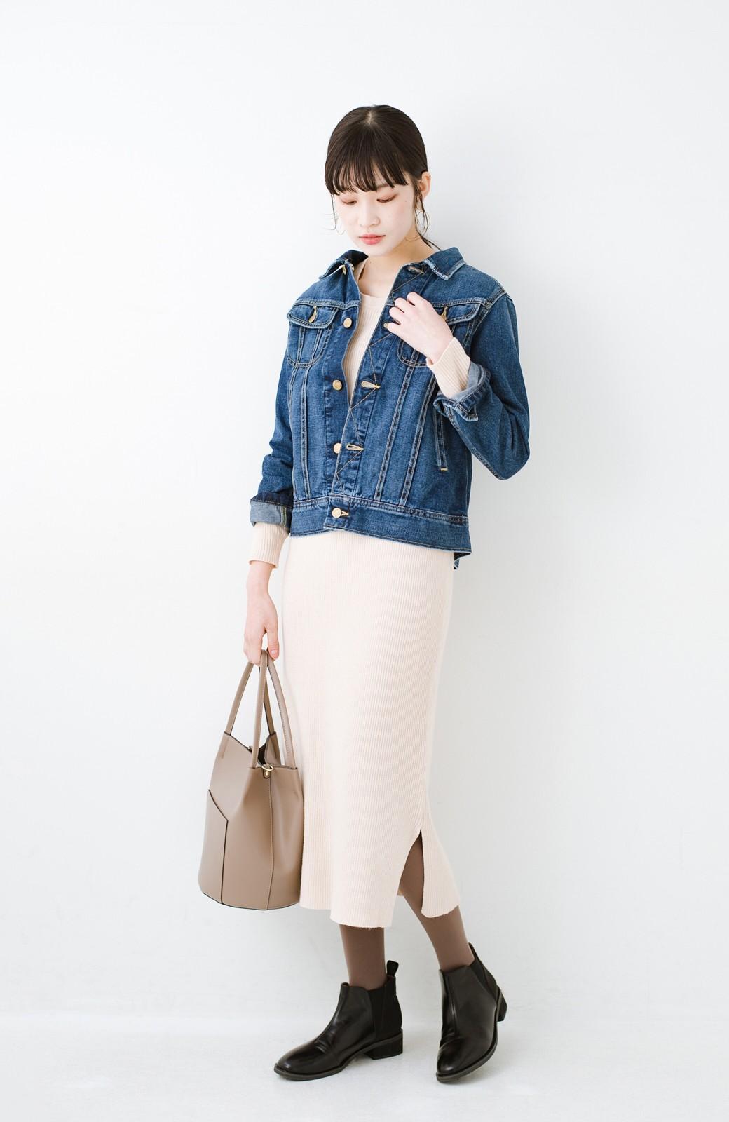 haco! ニットワンピースとキャミソールを重ねて着るだけでパッとオシャレに見えるうれしいセット by style zampa <ライトベージュ>の商品写真17