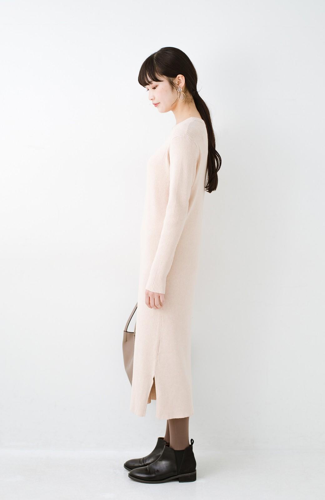 haco! ニットワンピースとキャミソールを重ねて着るだけでパッとオシャレに見えるうれしいセット by style zampa <ライトベージュ>の商品写真19