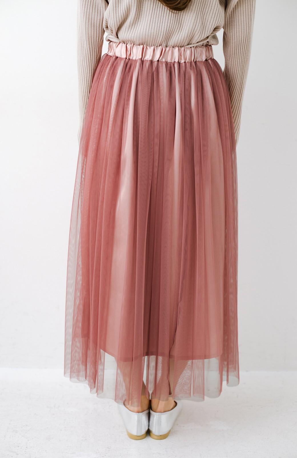 haco! 着るだけでルンとした気分になる! 長ーーい季節着られてずっと使えるオトナのためのチュールスカート <ピンク>の商品写真14