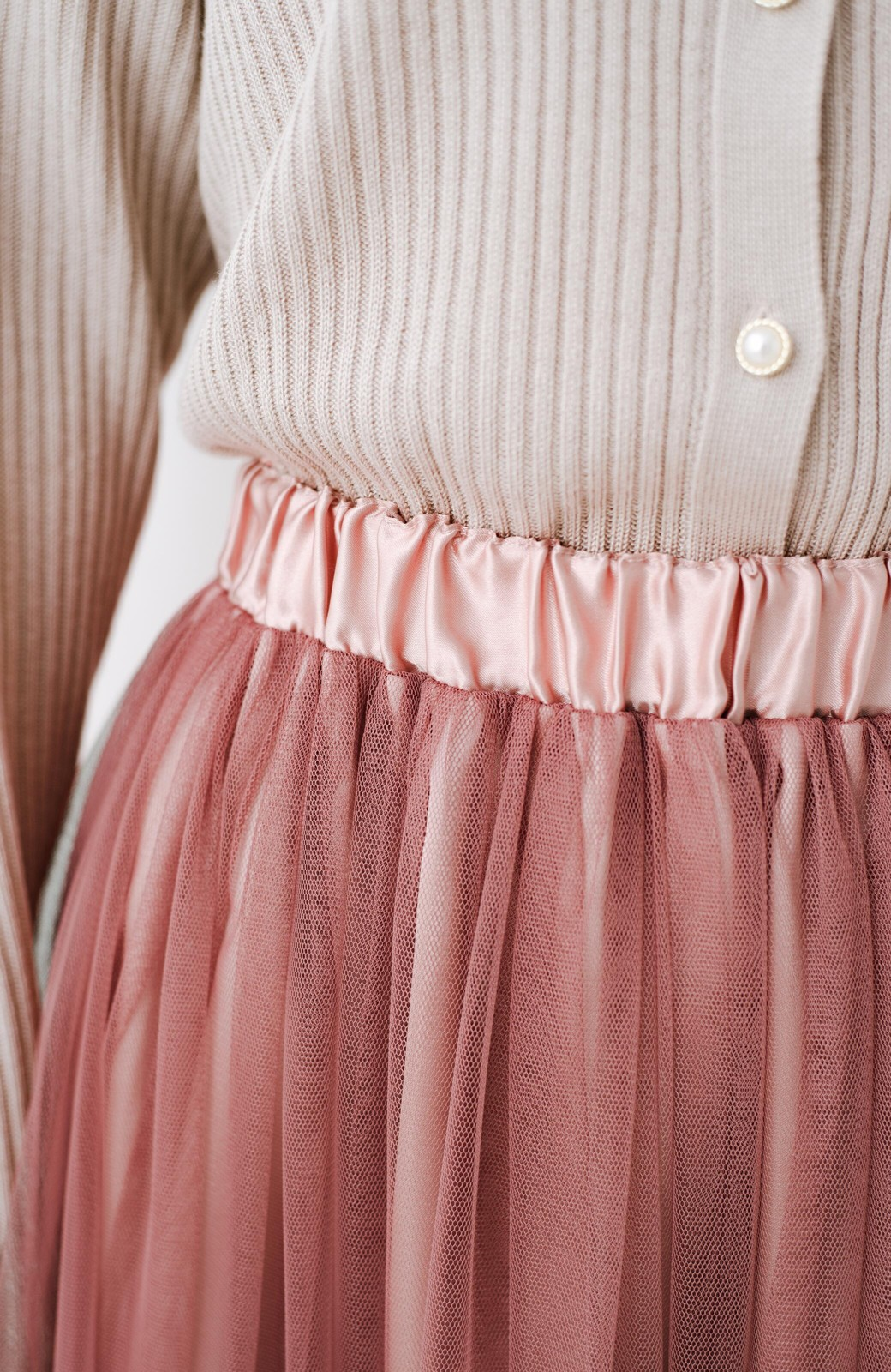 haco! 着るだけでルンとした気分になる! 長ーーい季節着られてずっと使えるオトナのためのチュールスカート <ピンク>の商品写真15