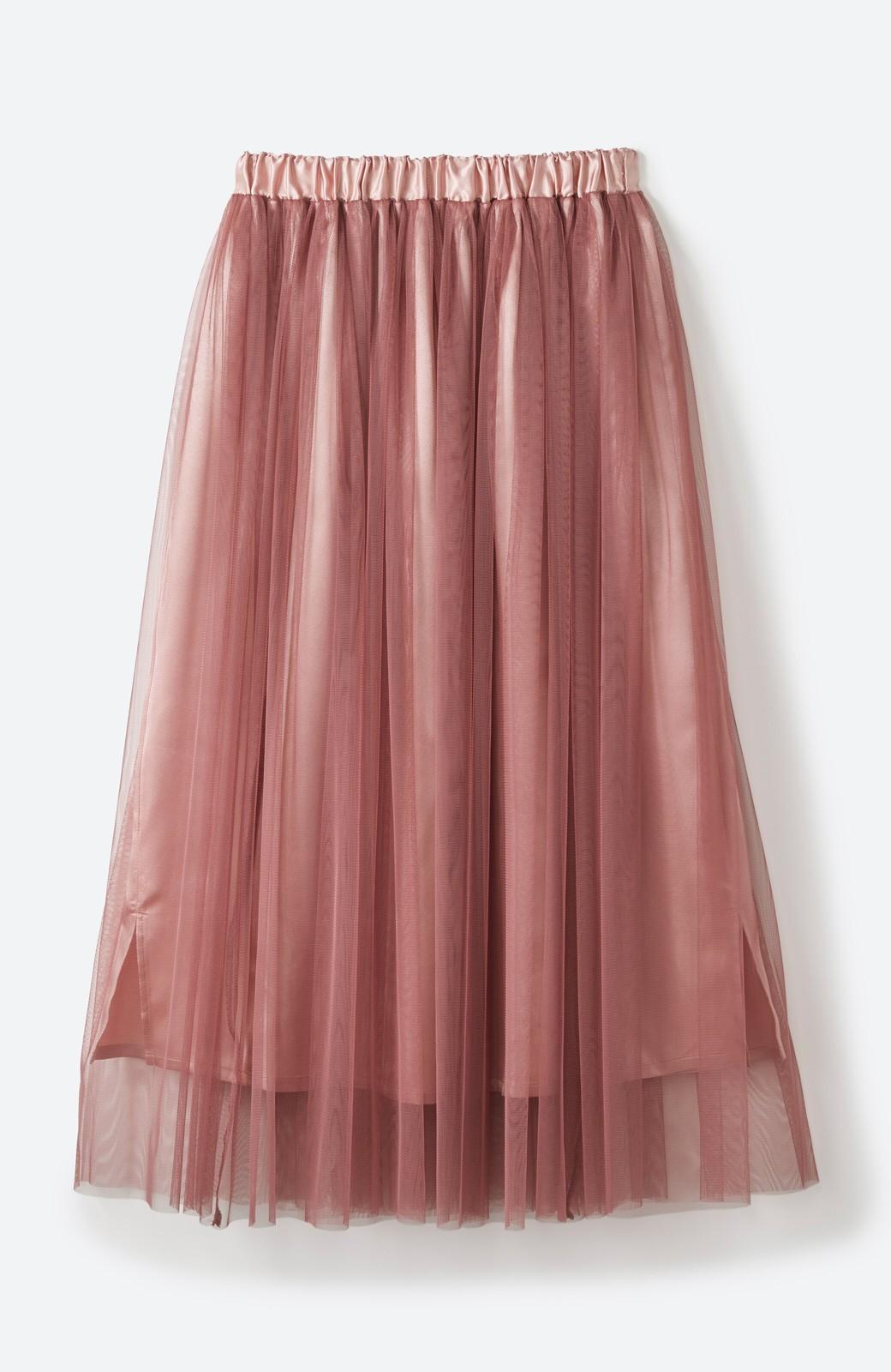 haco! 着るだけでルンとした気分になる! 長ーーい季節着られてずっと使えるオトナのためのチュールスカート <ピンク>の商品写真21