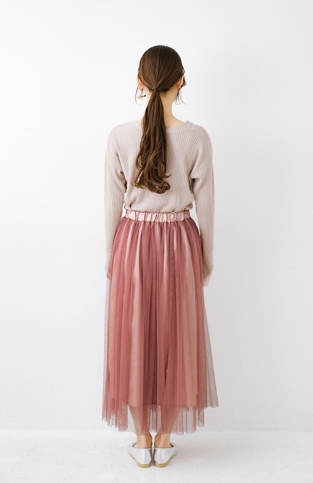 haco! 着るだけでルンとした気分になる! 長ーーい季節着られてずっと使えるオトナのためのチュールスカート <ピンク>の商品写真20