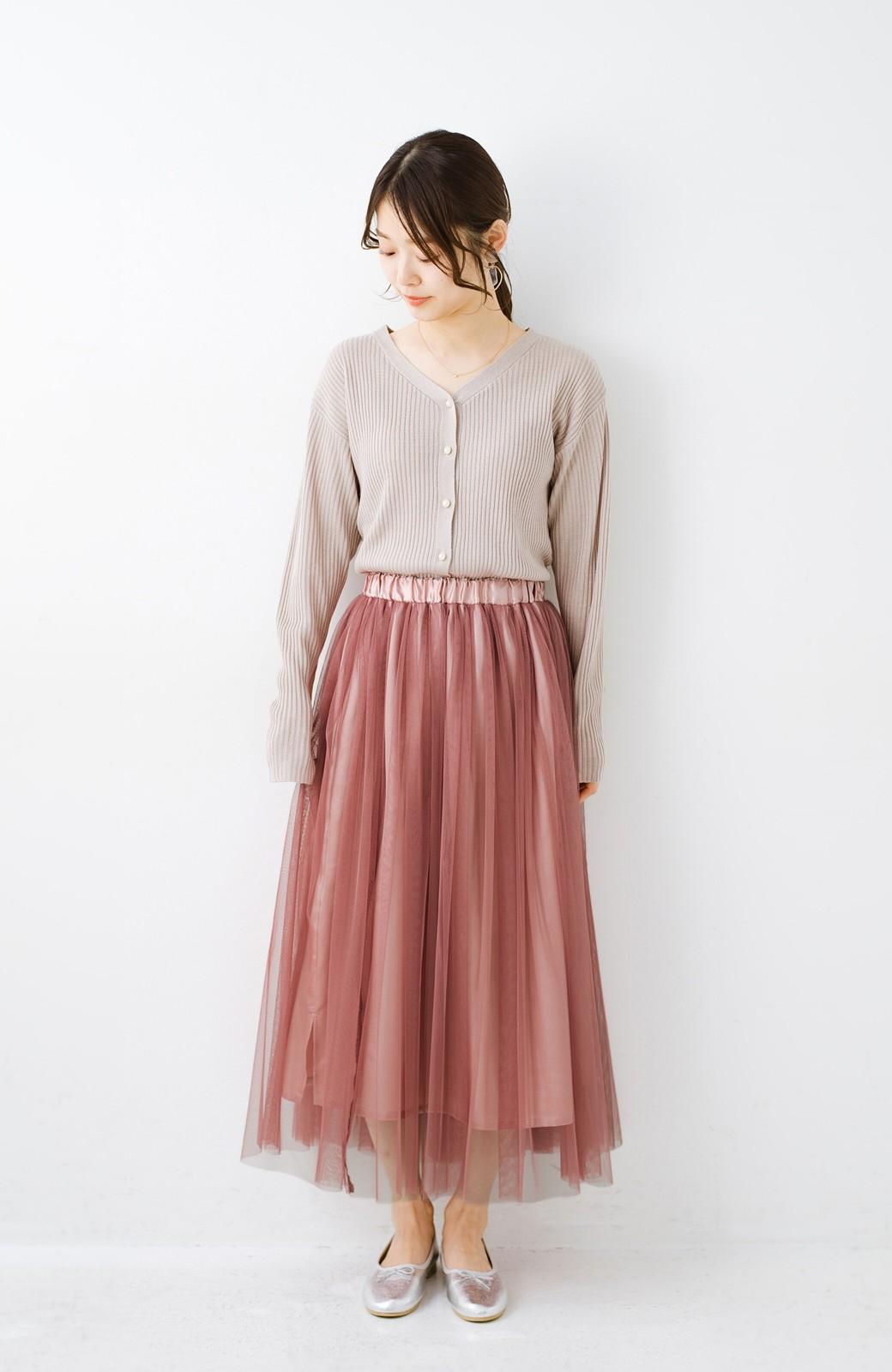 haco! 着るだけでルンとした気分になる! 長ーーい季節着られてずっと使えるオトナのためのチュールスカート <ピンク>の商品写真16