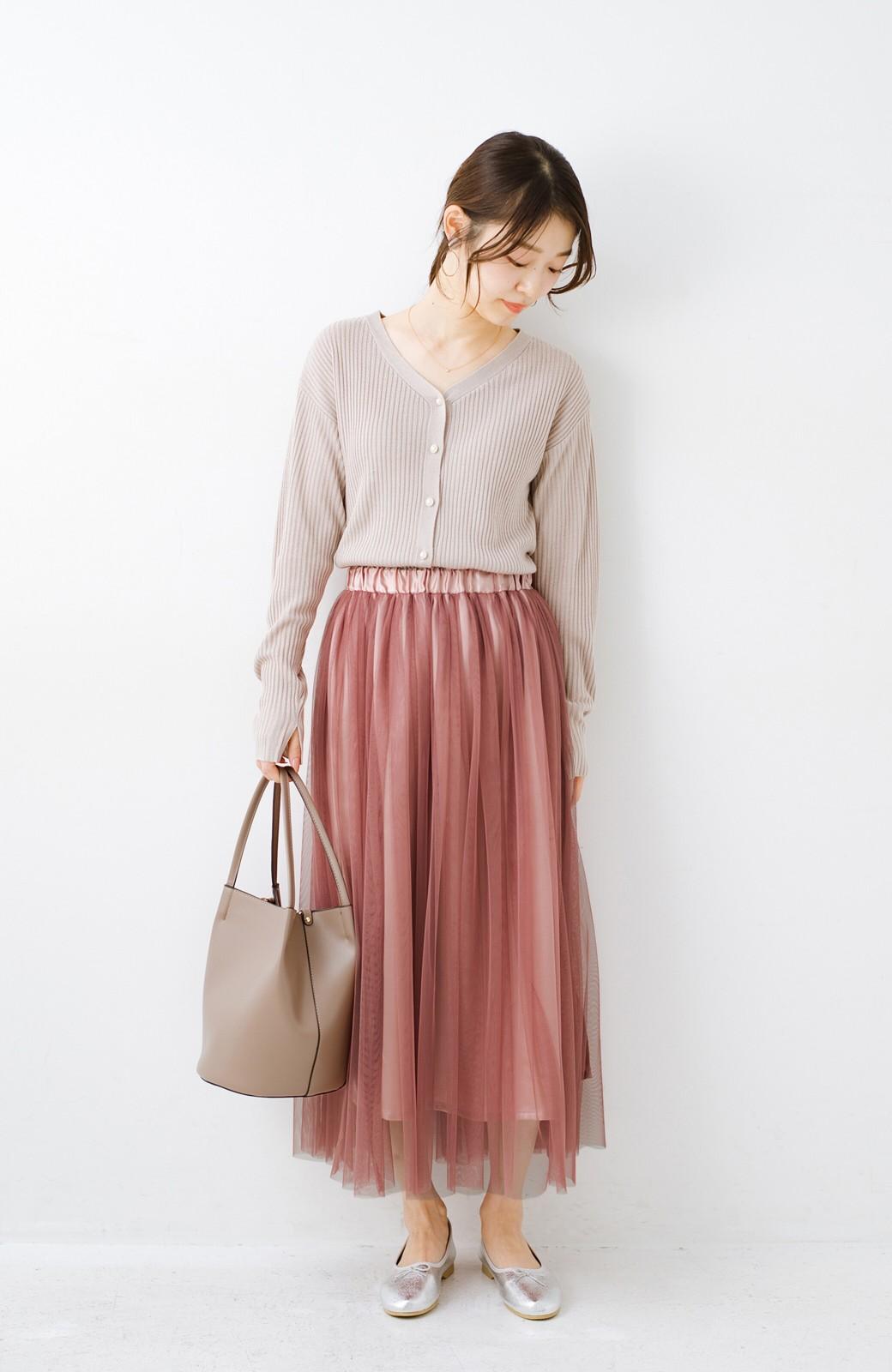 haco! 着るだけでルンとした気分になる! 長ーーい季節着られてずっと使えるオトナのためのチュールスカート <ピンク>の商品写真18