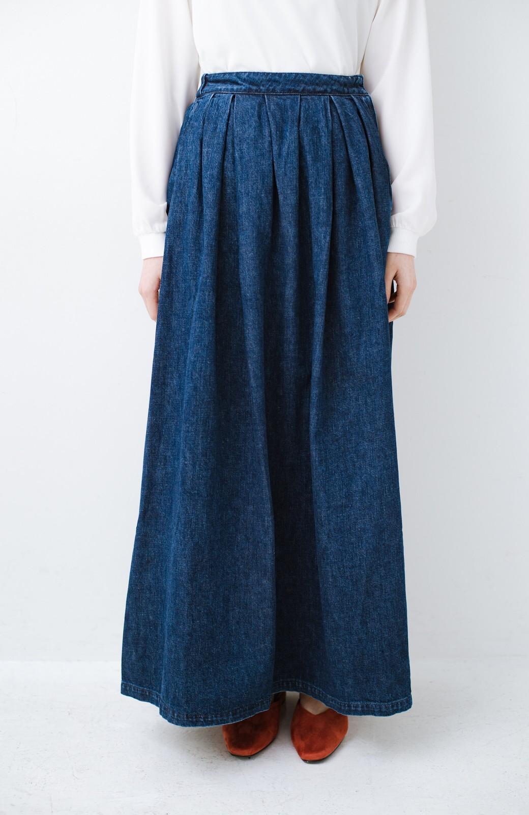 haco! Urvin 伊藤信子×sayurinishikuboコラボ tann'sスカート <インディゴブルー>の商品写真2
