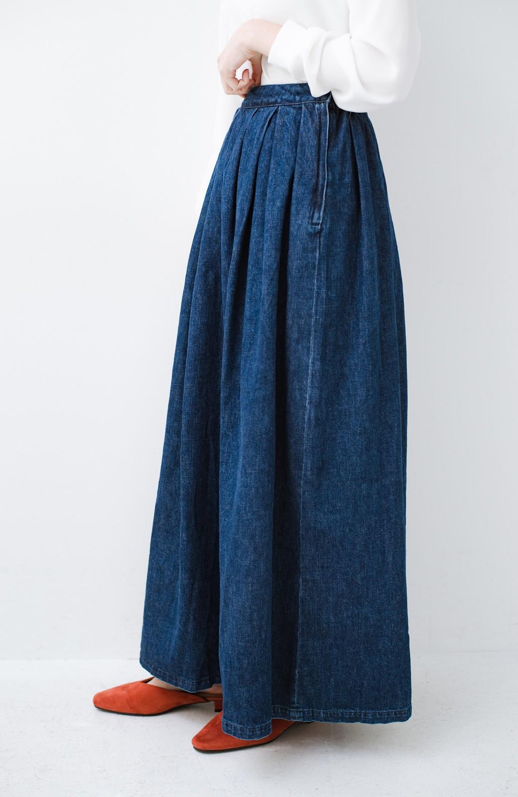 haco! Urvin 伊藤信子×sayurinishikuboコラボ tann'sスカート <インディゴブルー>の商品写真3
