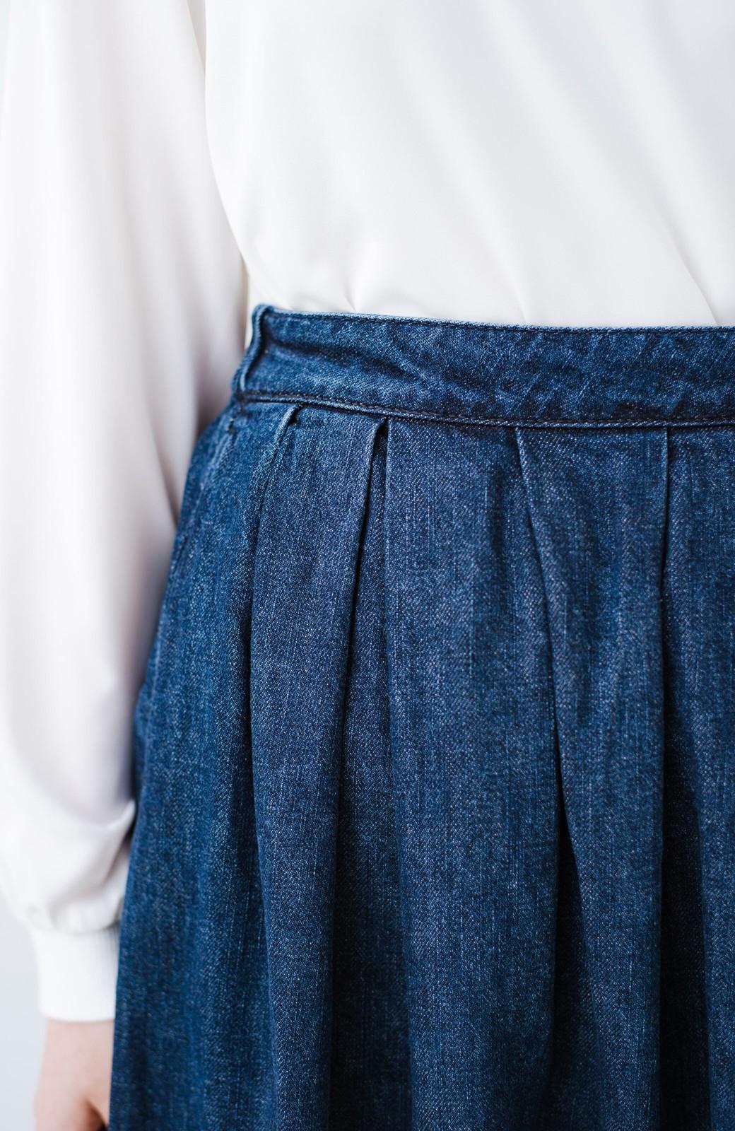 haco! Urvin 伊藤信子×sayurinishikuboコラボ tann'sスカート <インディゴブルー>の商品写真5