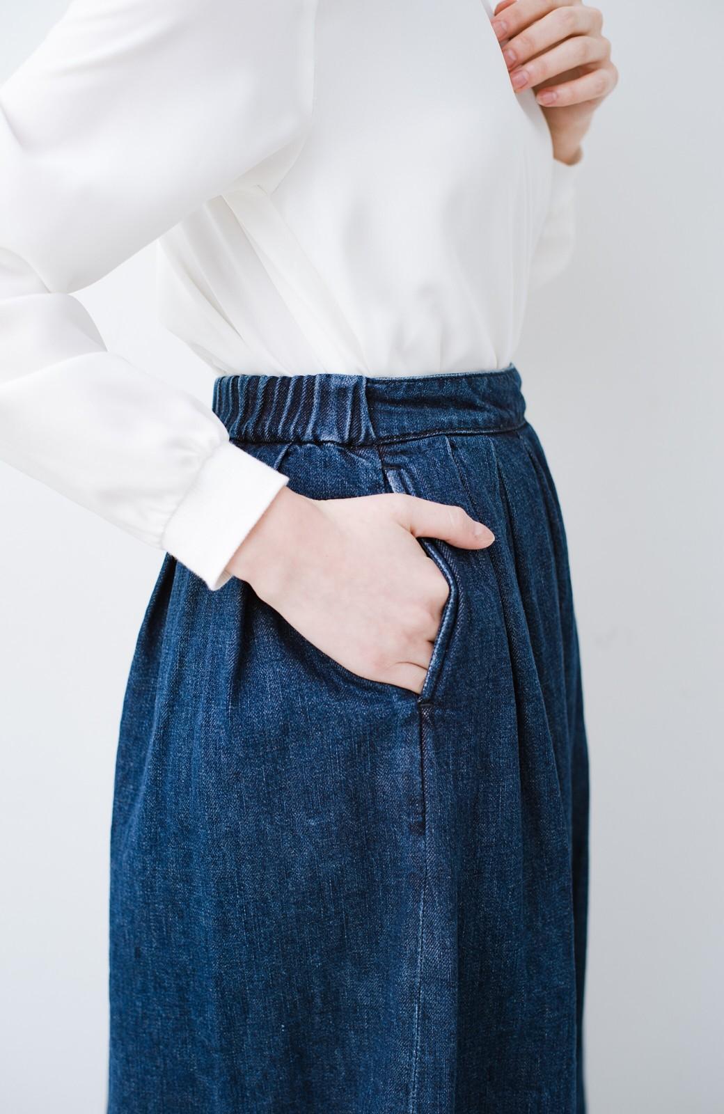 haco! Urvin 伊藤信子×sayurinishikuboコラボ tann'sスカート <インディゴブルー>の商品写真7