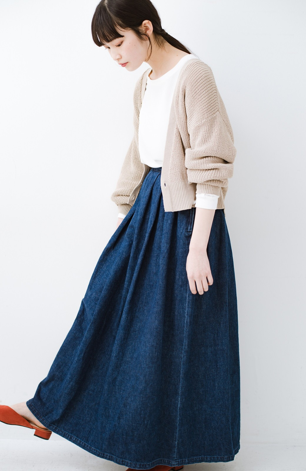 haco! Urvin 伊藤信子×sayurinishikuboコラボ tann'sスカート <インディゴブルー>の商品写真1