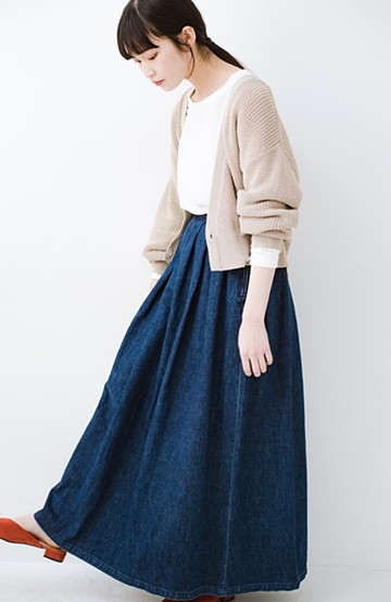 haco! Urvin 伊藤信子×sayurinishikuboコラボ tann'sスカート <インディゴブルー>の商品写真
