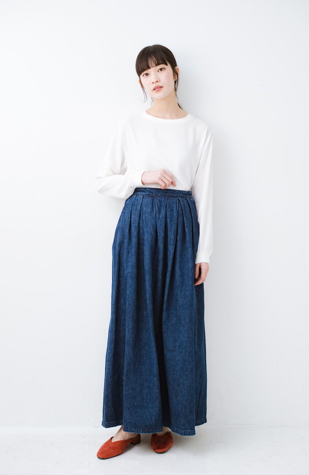 haco! Urvin 伊藤信子×sayurinishikuboコラボ tann'sスカート <インディゴブルー>の商品写真9