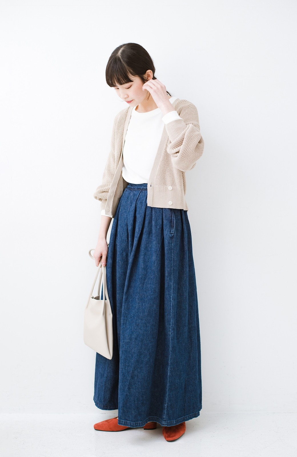 haco! Urvin 伊藤信子×sayurinishikuboコラボ tann'sスカート <インディゴブルー>の商品写真11
