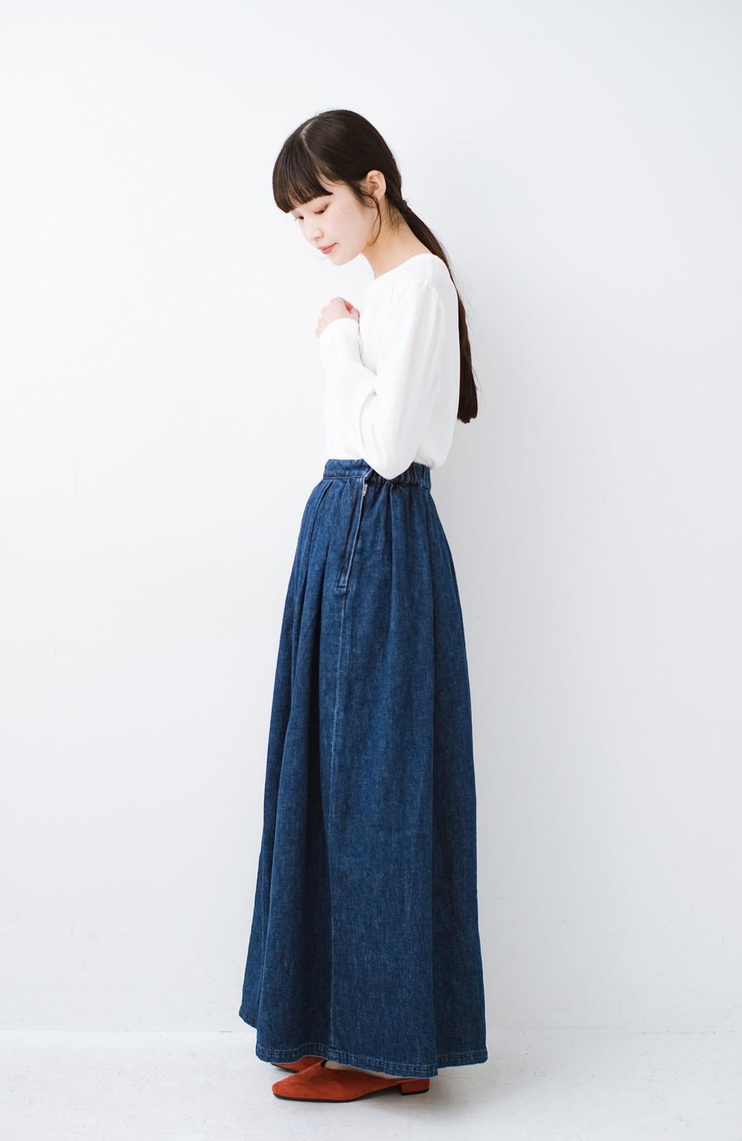 haco! Urvin 伊藤信子×sayurinishikuboコラボ tann'sスカート <インディゴブルー>の商品写真12
