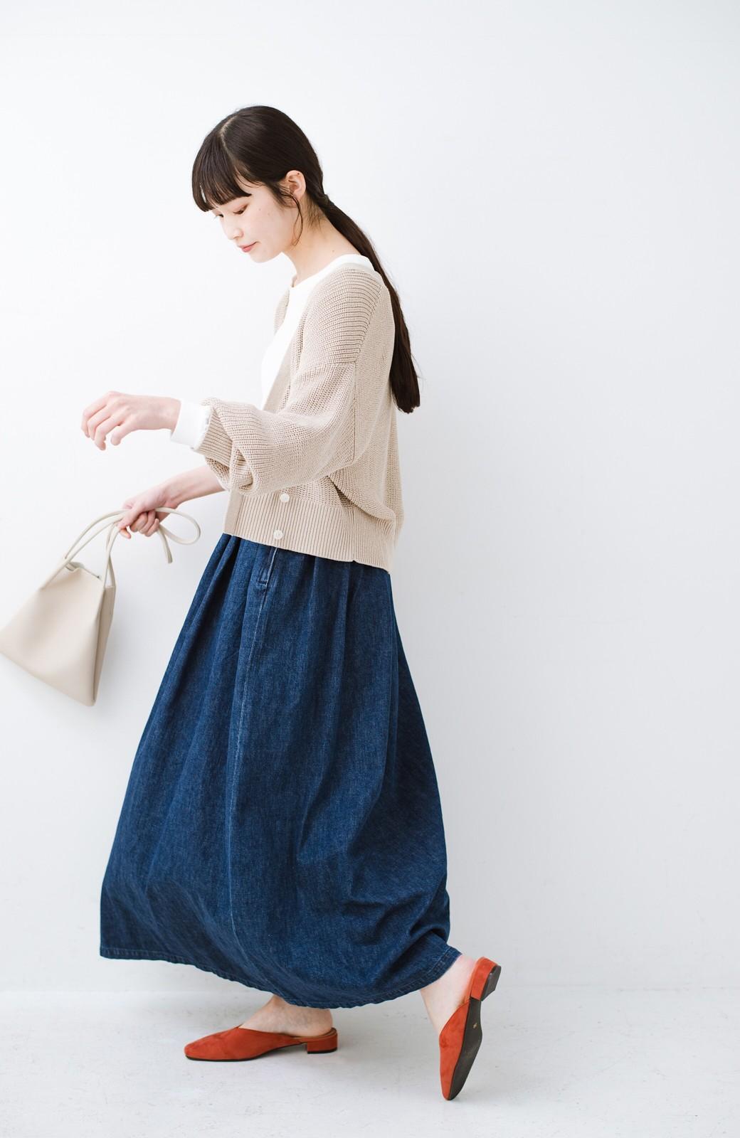 haco! Urvin 伊藤信子×sayurinishikuboコラボ tann'sスカート <インディゴブルー>の商品写真13
