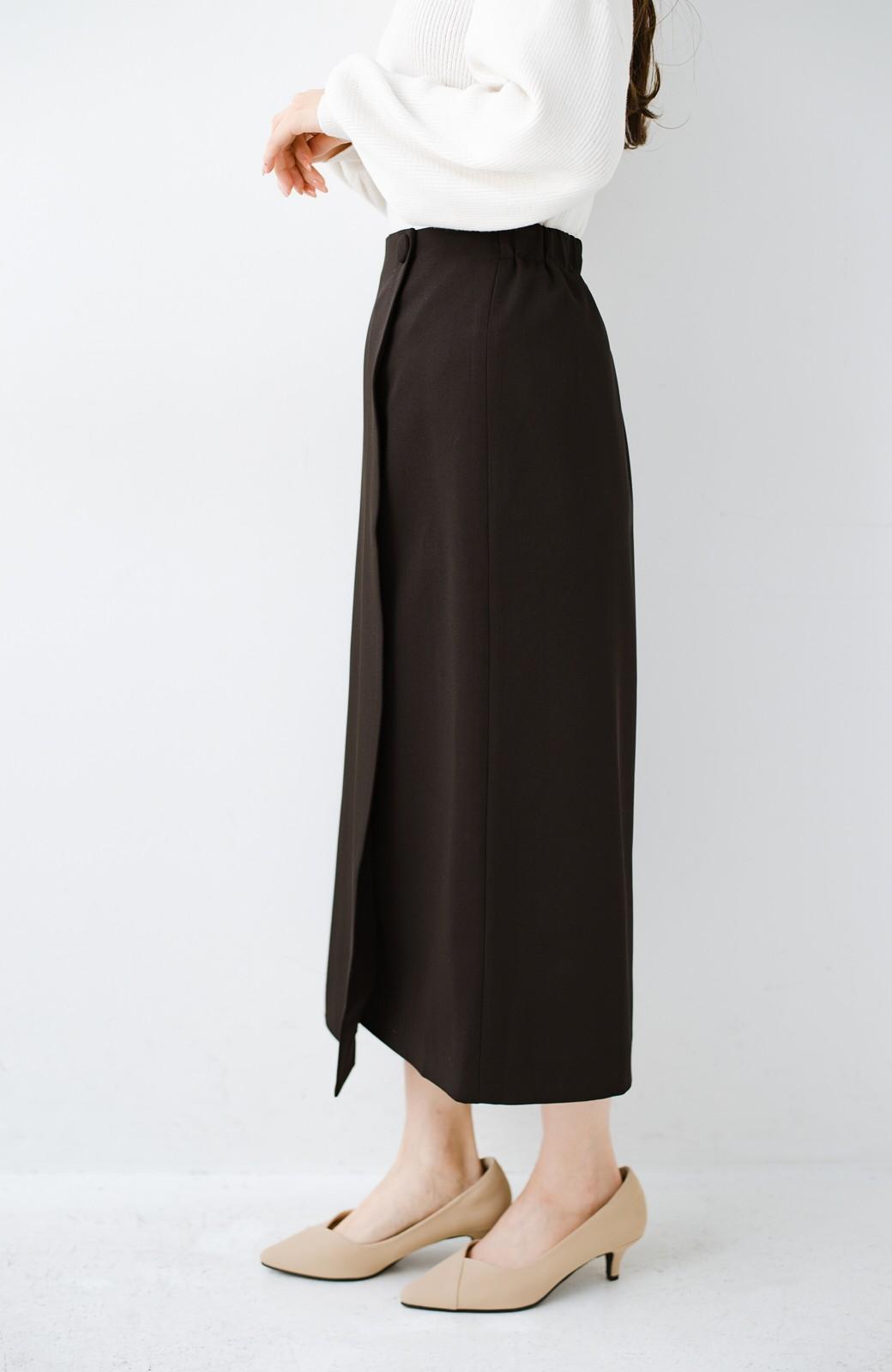 haco! いざというとき困らないための きちんと見えするラップスカート by que made me <ブラック>の商品写真4